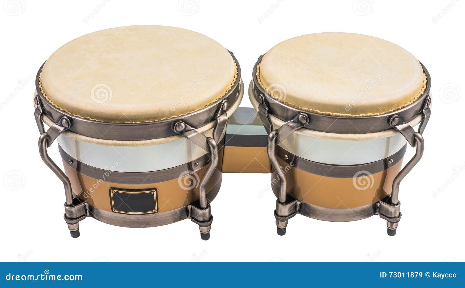 Bongo-Trommeln lokalisiert auf einem weißen Hintergrund