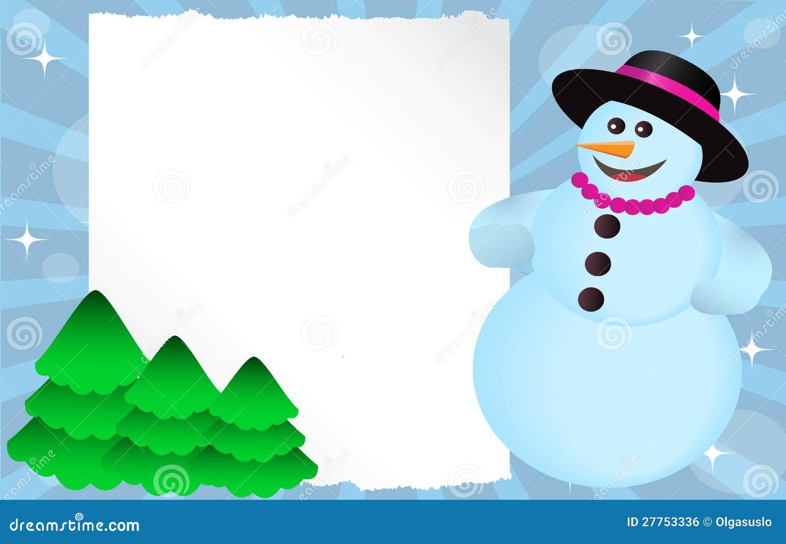 Bonhomme de neige avec le drapeau