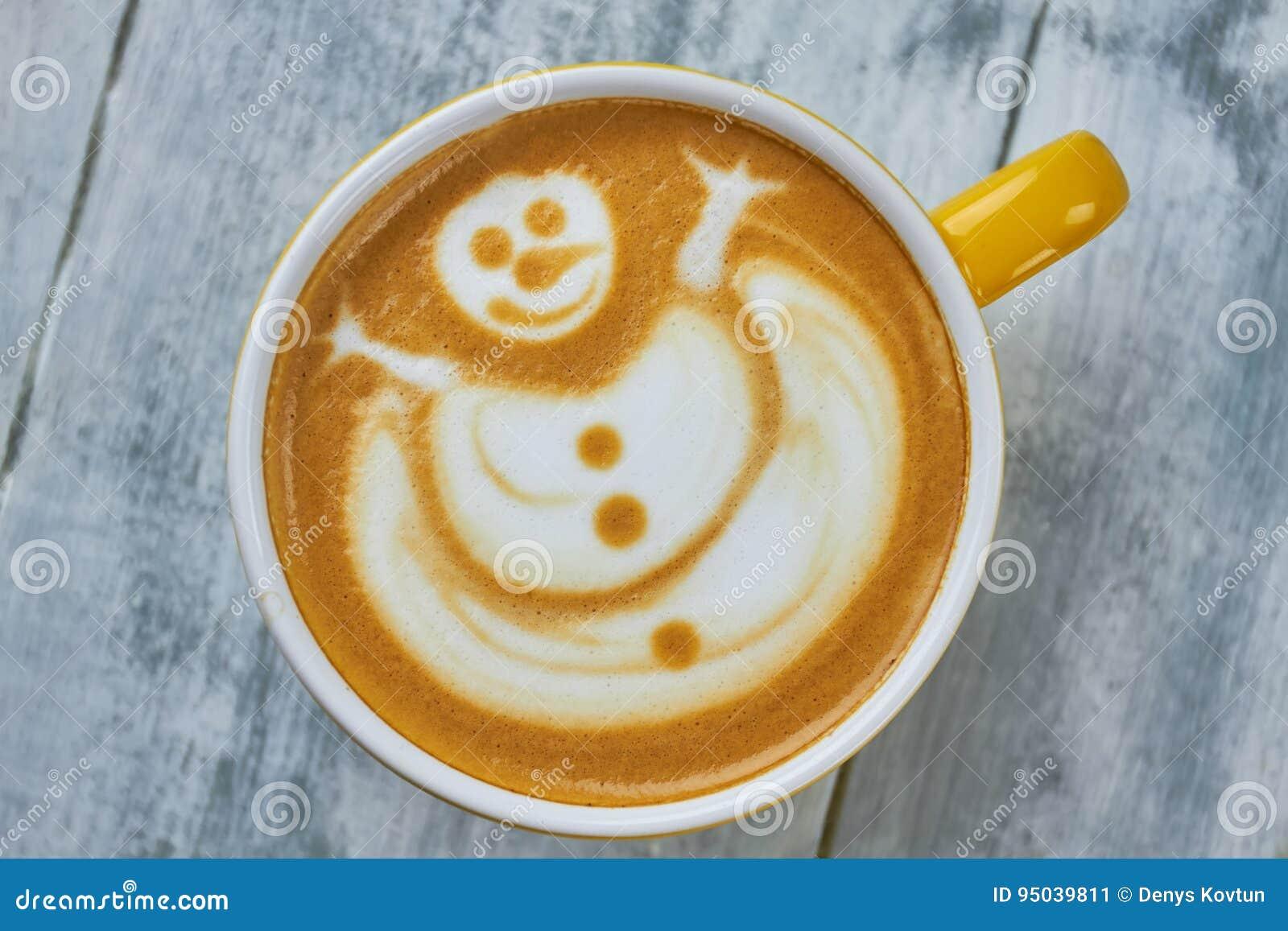 Bonhomme de neige d art de Latte