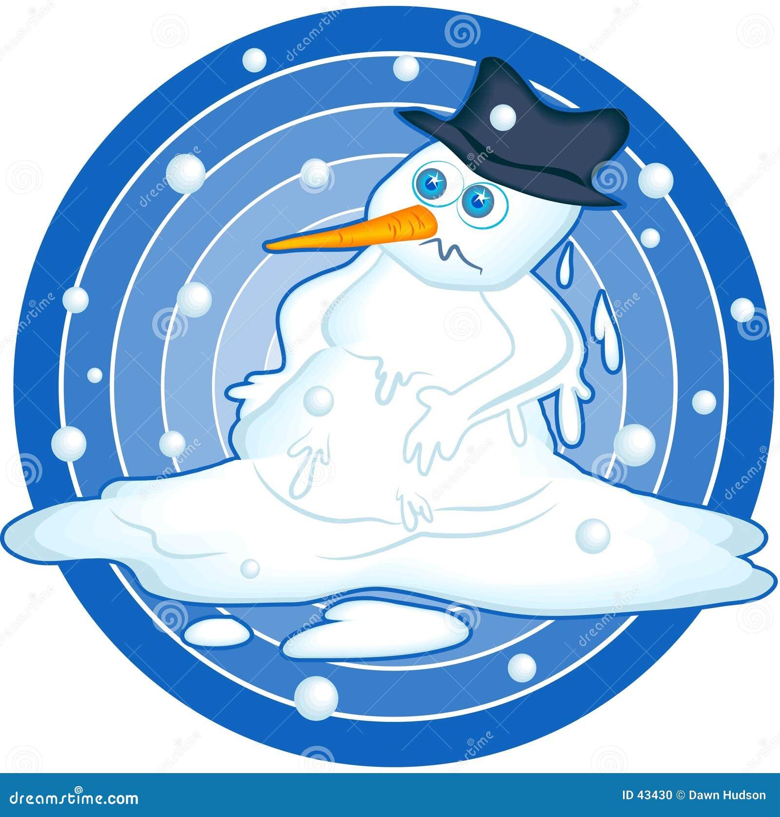 Bonhomme de neige de fonte