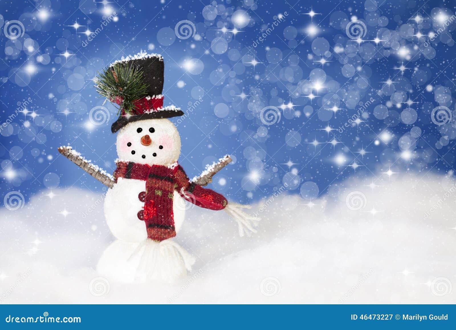 Bonhomme de neige de Noël heureux