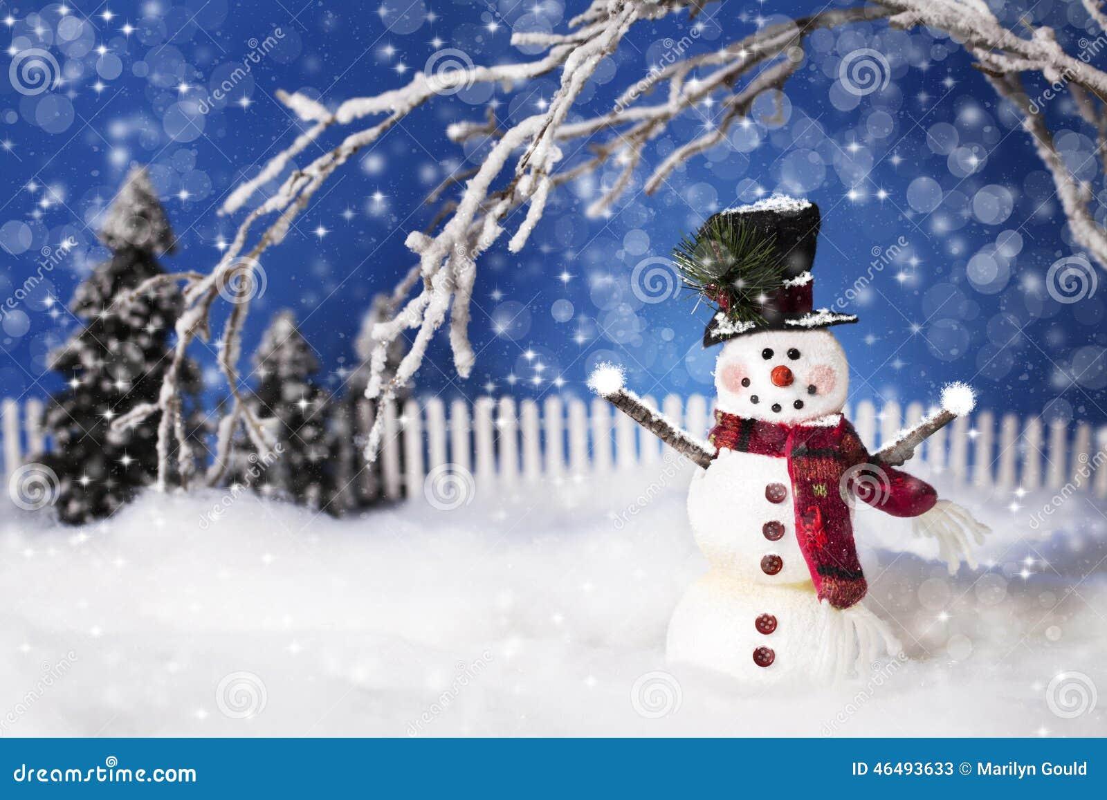 Bonhomme de neige 2 de Noël heureux