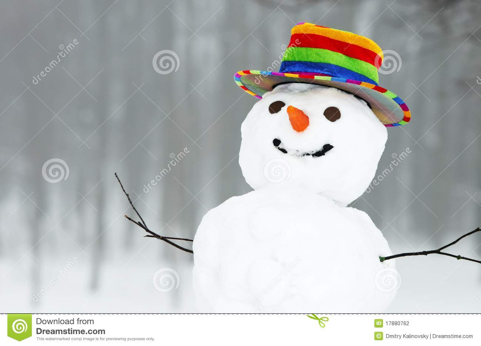 Bonhomme de neige drôle de l hiver