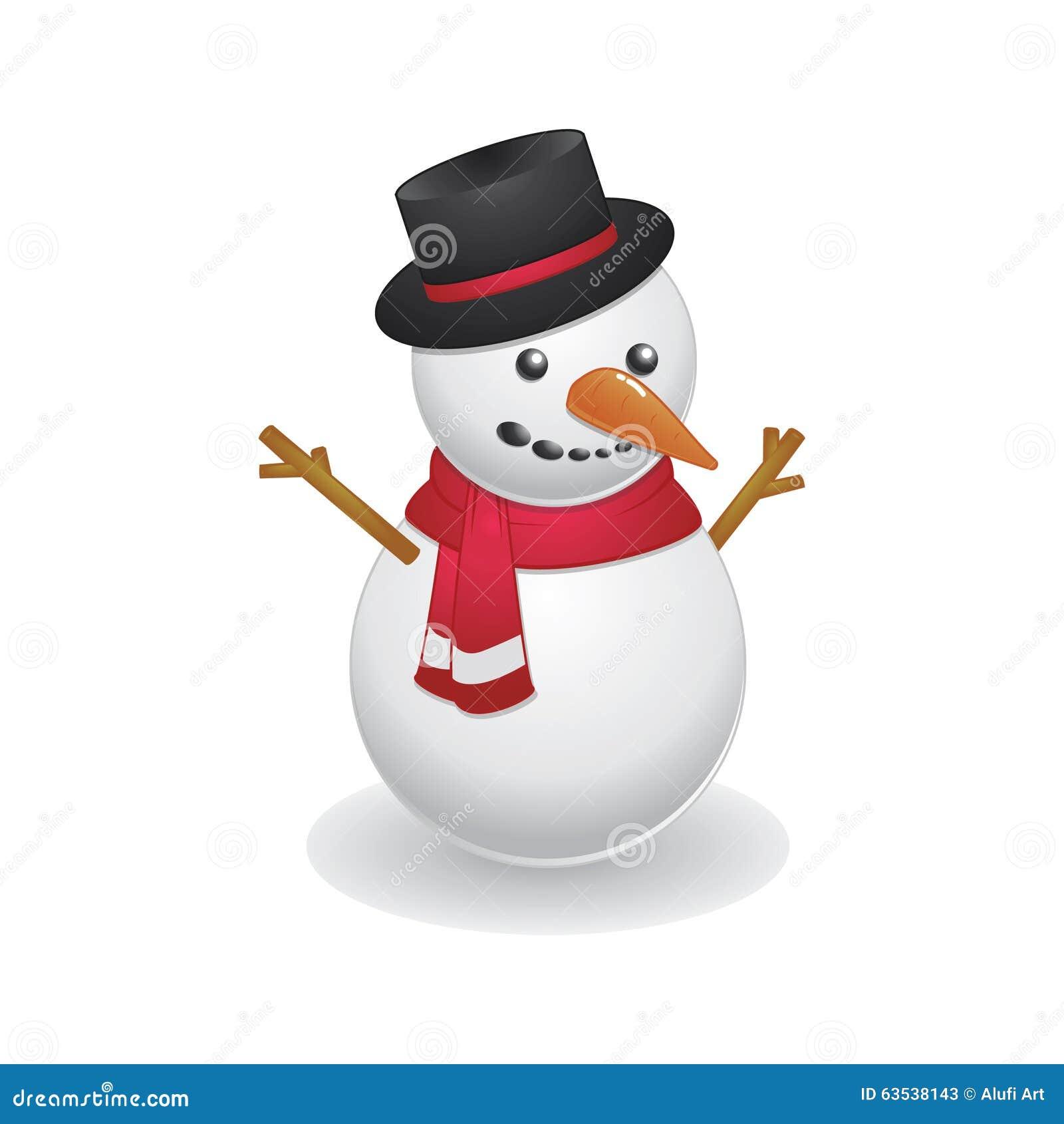 Bonhomme de neige frais utilisant le chapeau noir - Chapeau bonhomme de neige ...