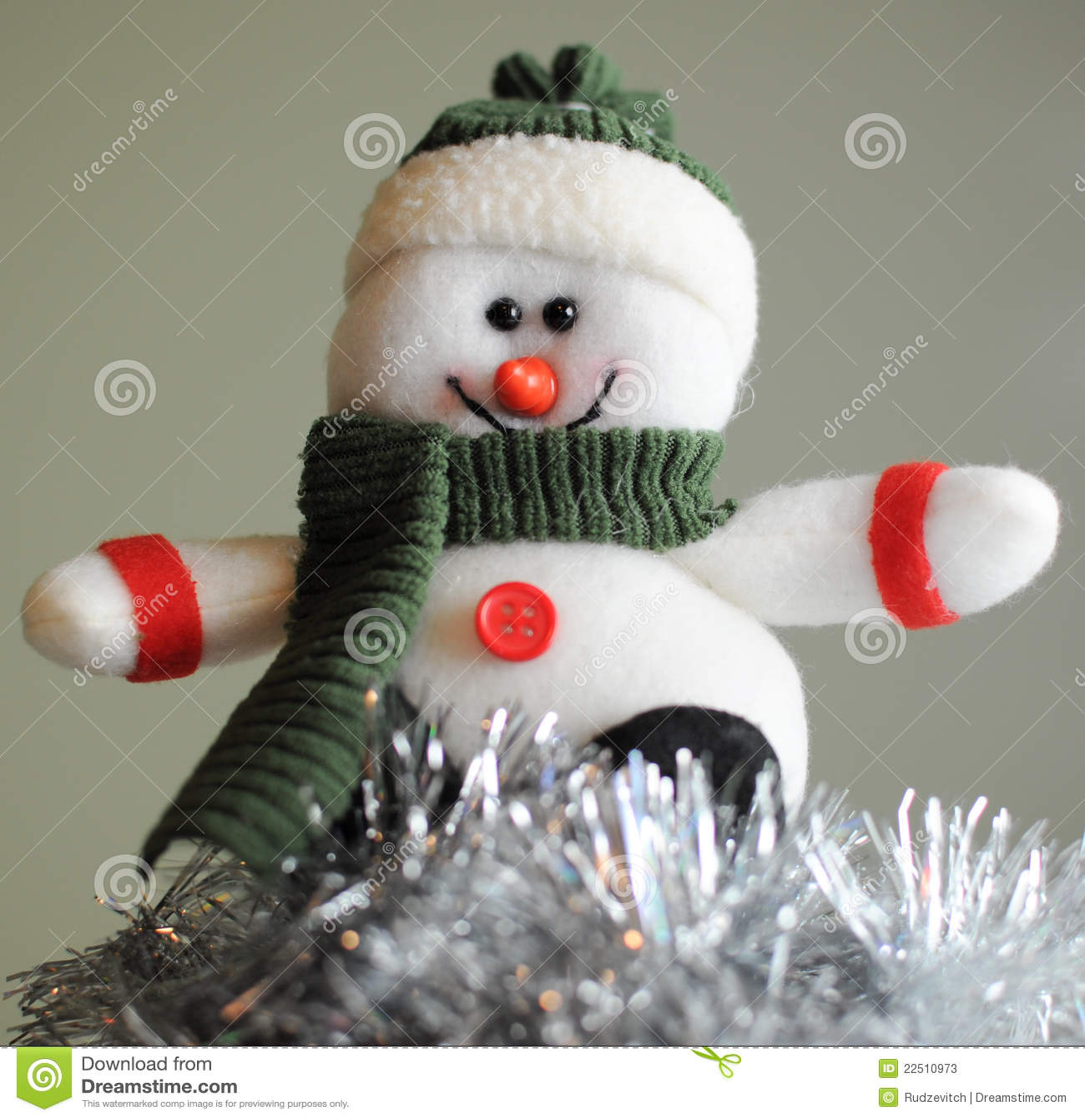 Bonhomme de neige gai dans le chapeau photos stock image - Chapeau bonhomme de neige ...