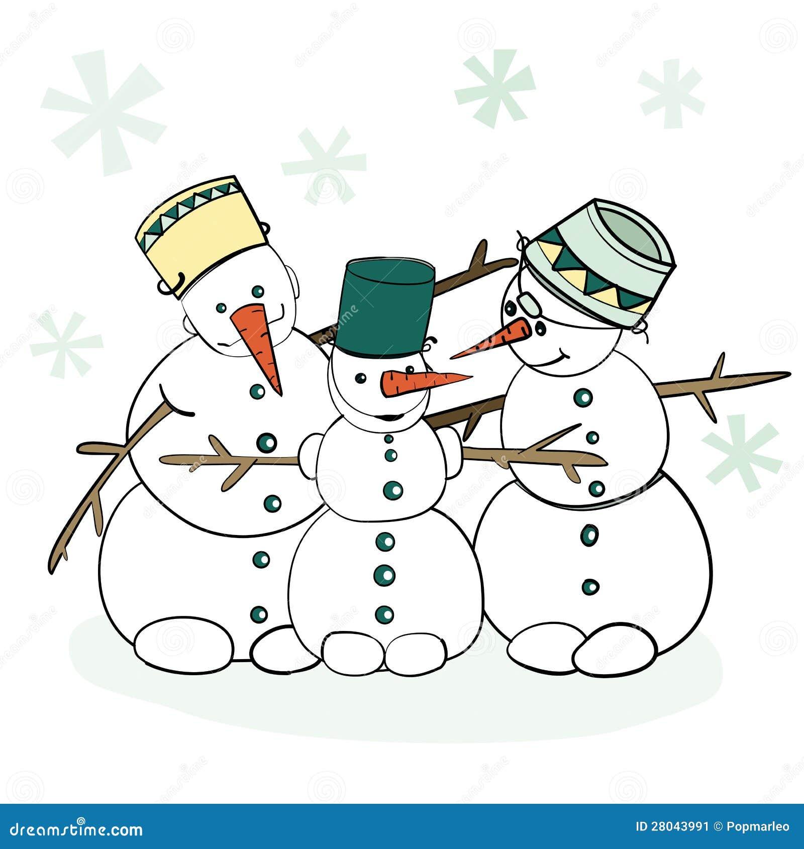 Bonhomme de neige humoristique de l 39 hiver illustration de - Dessin 4x4 humoristique ...