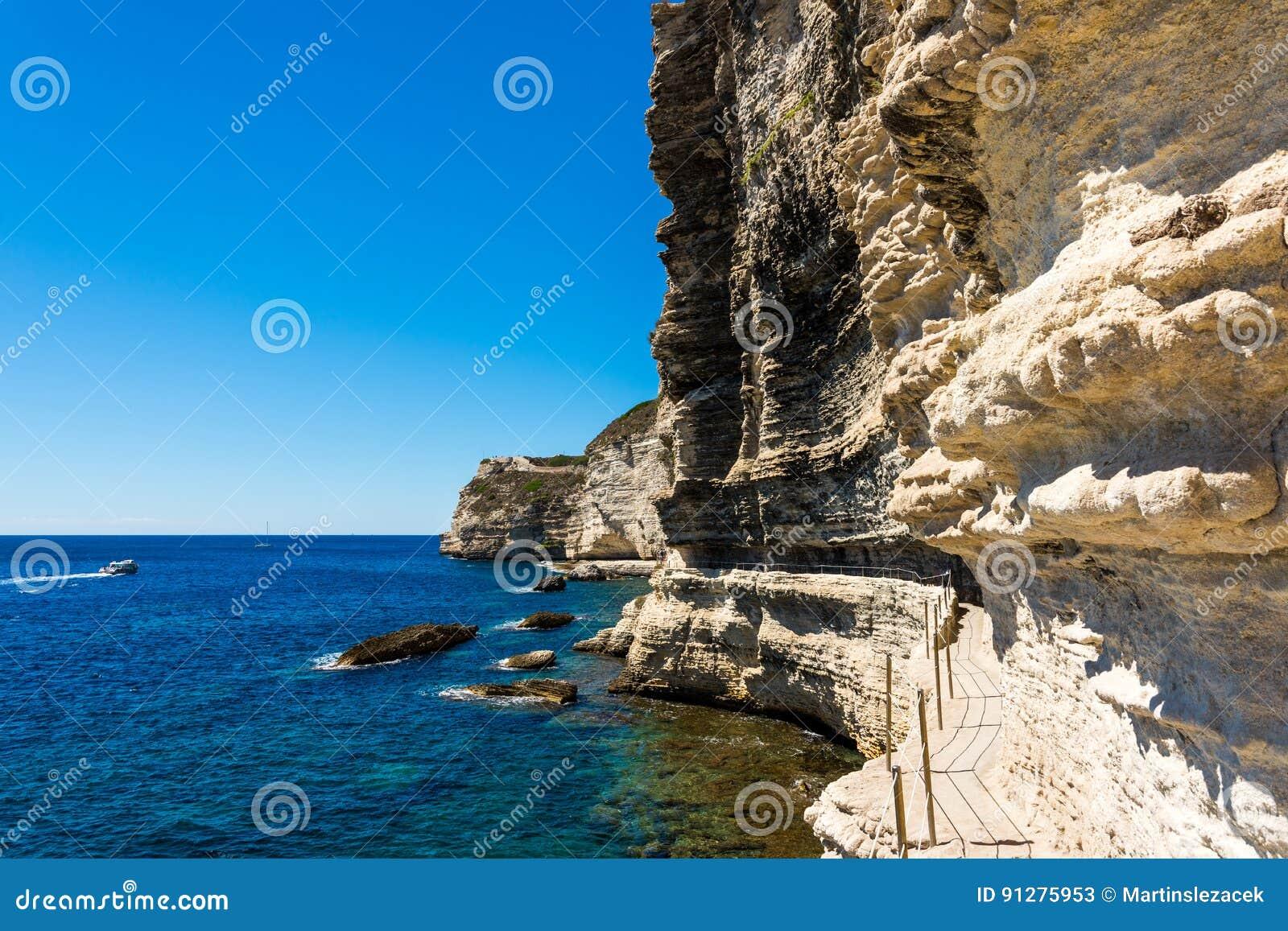 Bonifacio fästning Korsika
