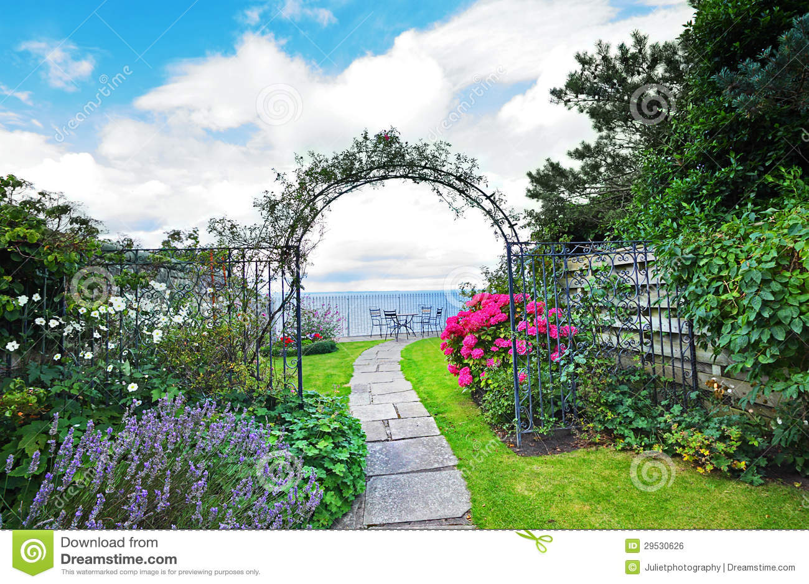 Bonito, velho, jardim
