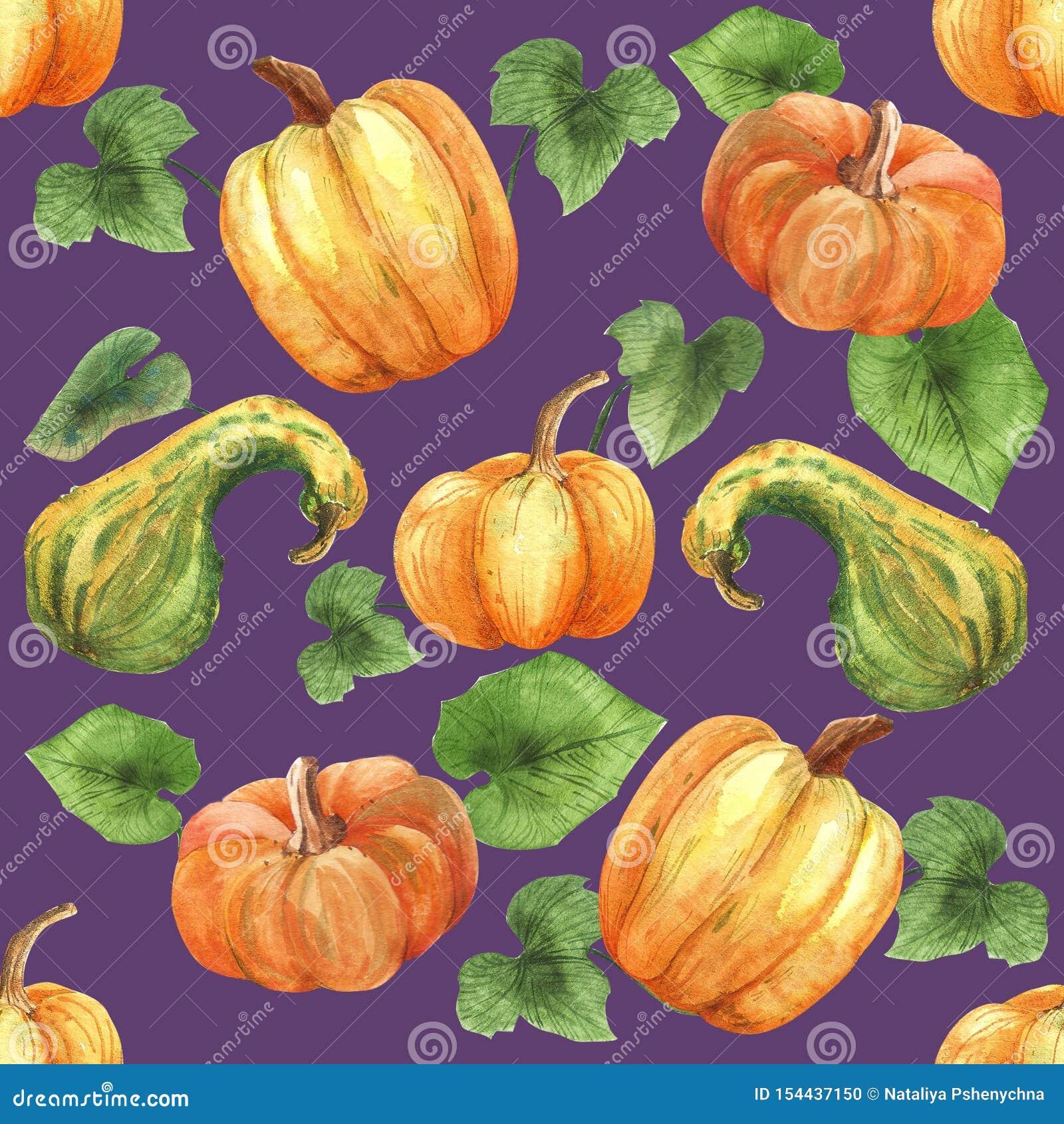 Bonjour automne Mod?le sans couture d aquarelle