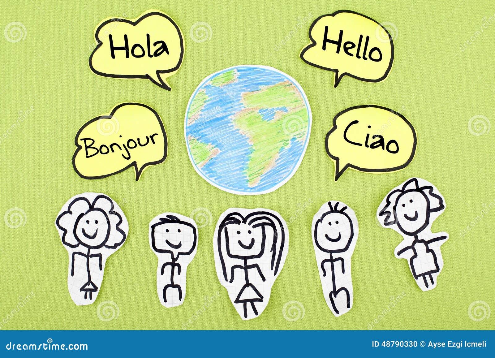 Bonjour dans différentes langues étrangères globales internationales Bonjour Ciao Hola