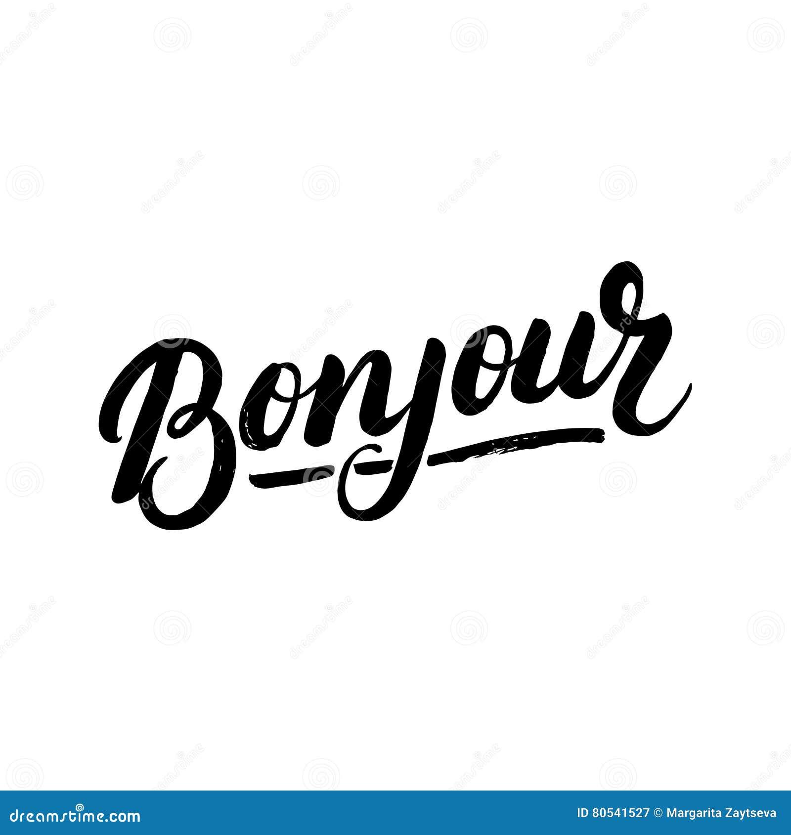Bonjour - bonsoir - Page 11 Bonjour-hand-het-geschreven-van-letters-voorzien-80541527