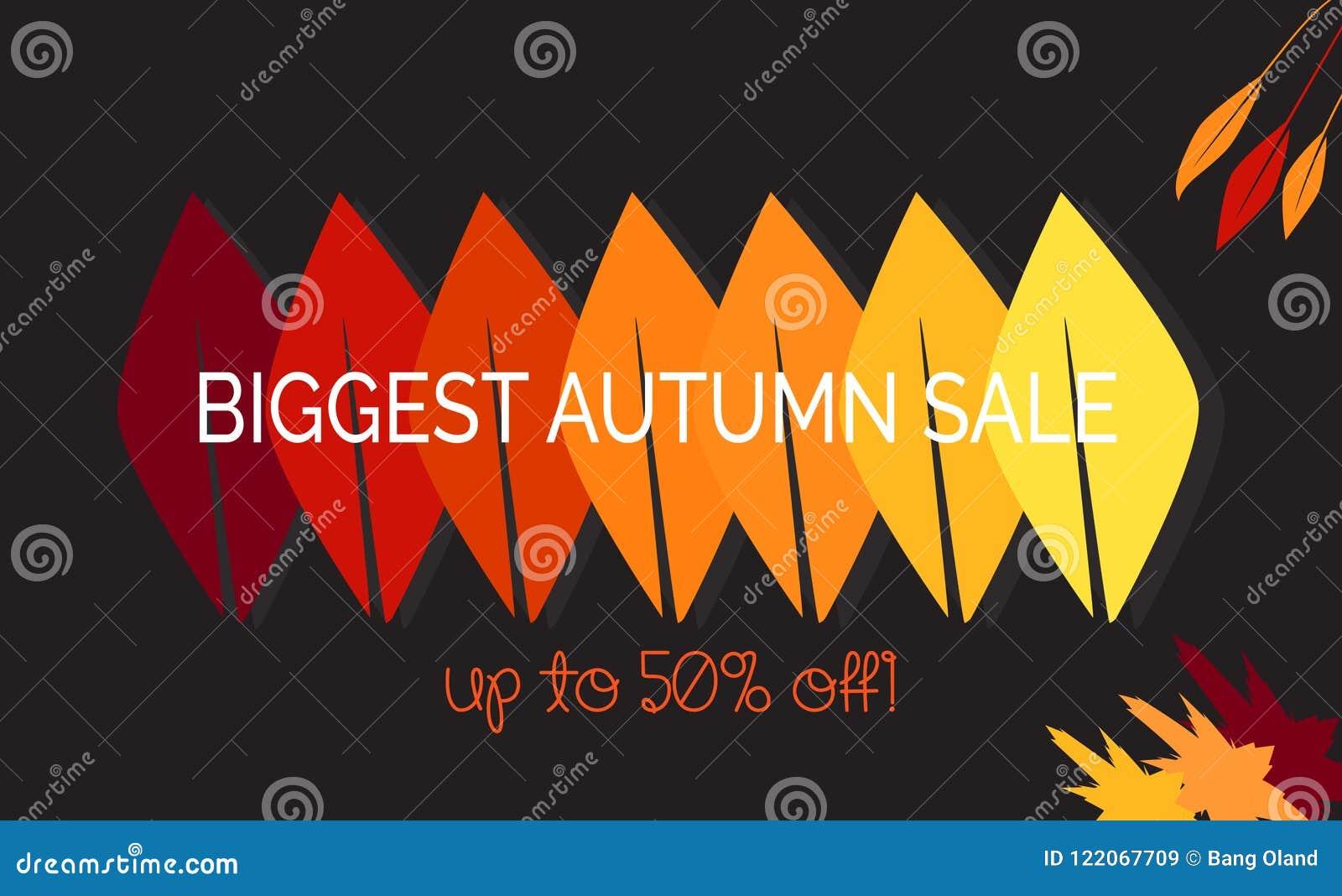 Bonjour illustration de vecteur d automne Saison de conception de ventes de chute Décoration de Thanksgiving Peut être employé po
