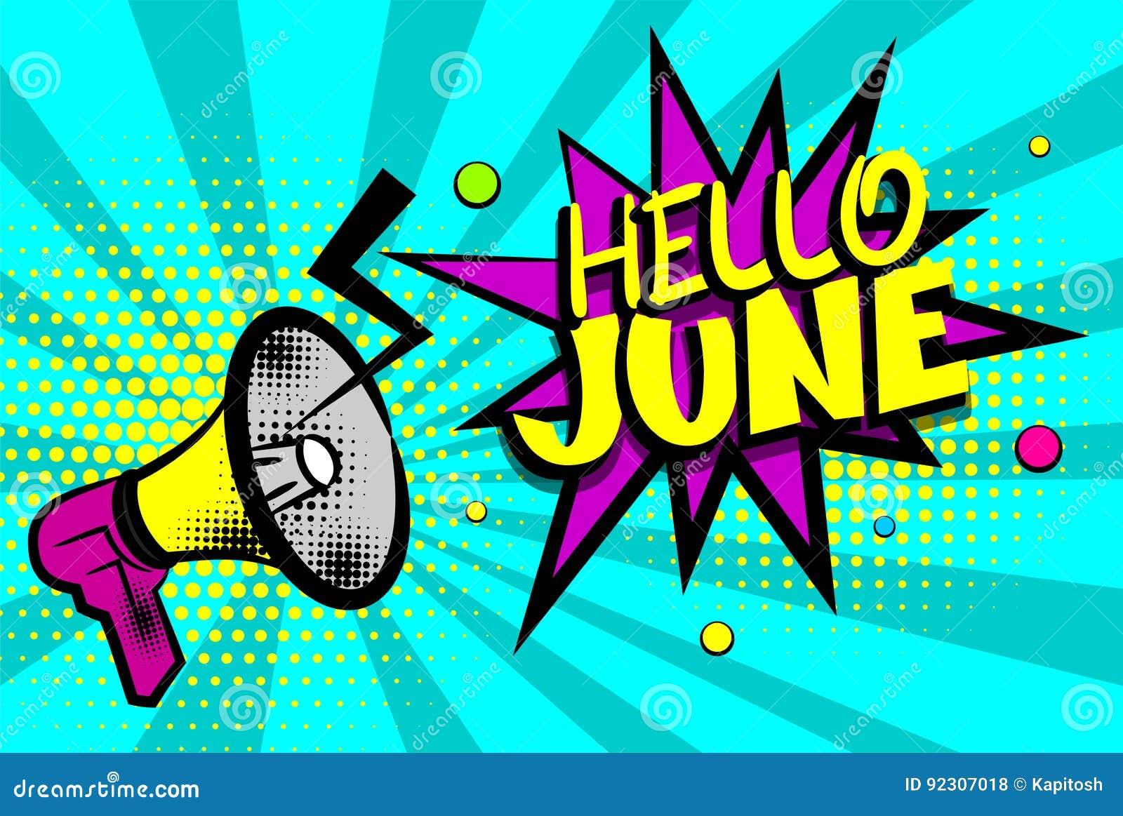Bonjour L Art De Bruit Comique Des Textes De Juin A Coloré