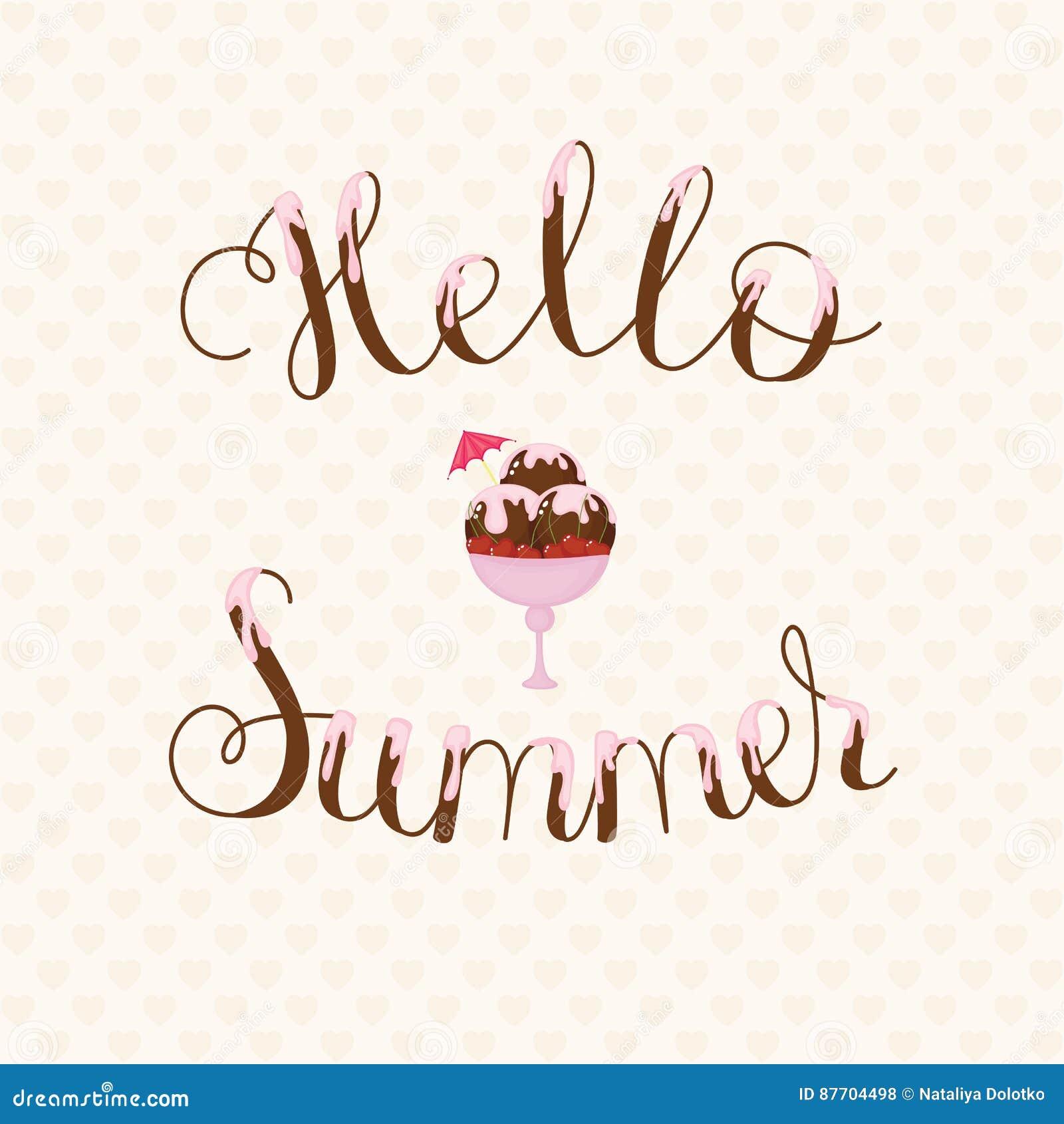 Bonjour lettrage d été