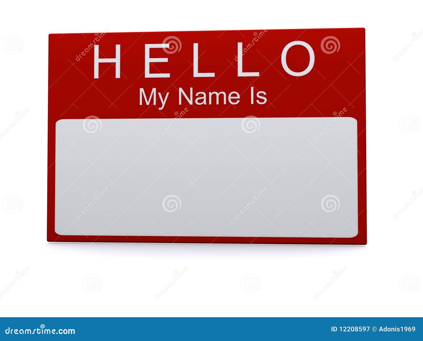 Bonjour mon nom est étiquette