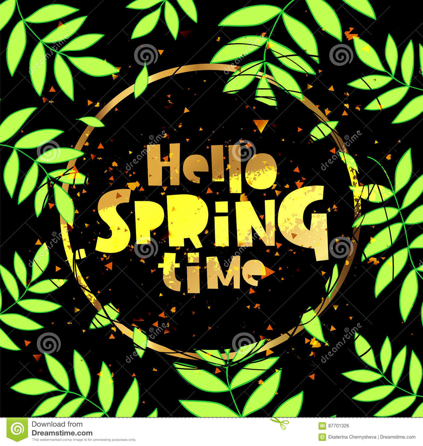 Bonjour printemps lettrage