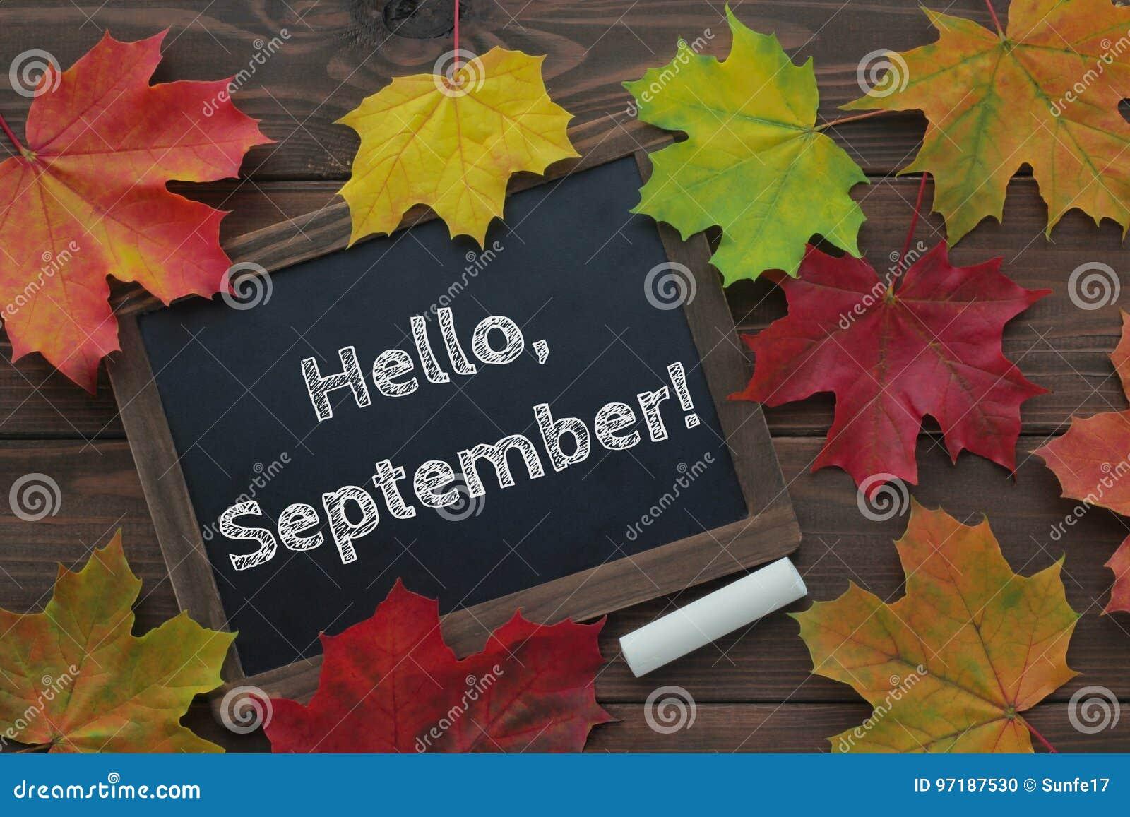 Bonjour, septembre !
