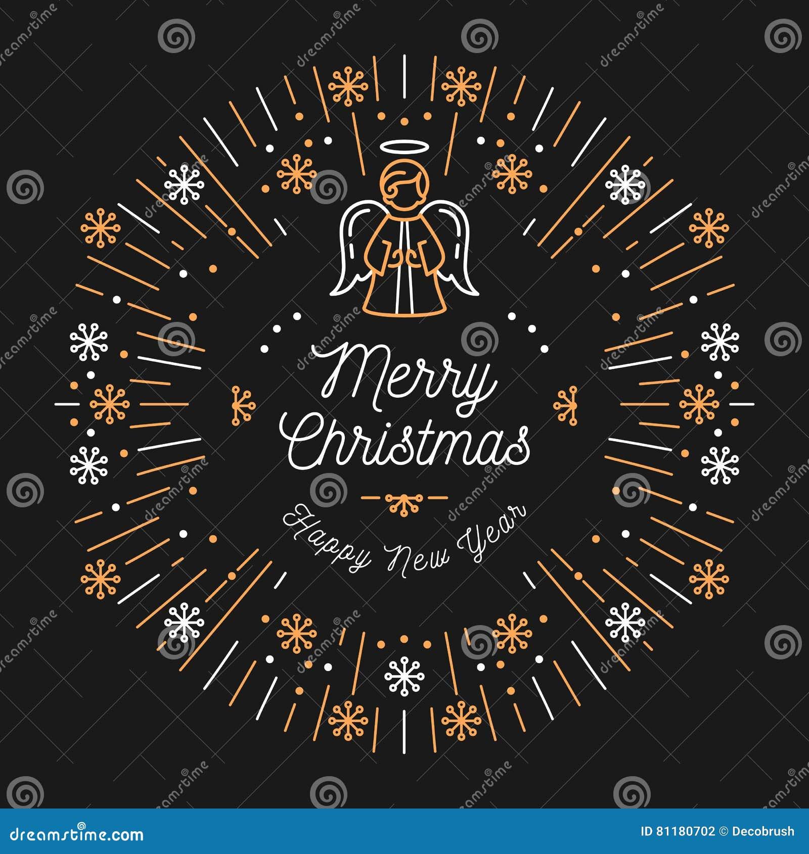 Bonne Annee A La Mode De Carte De Noel Conception Minimale Art Deco