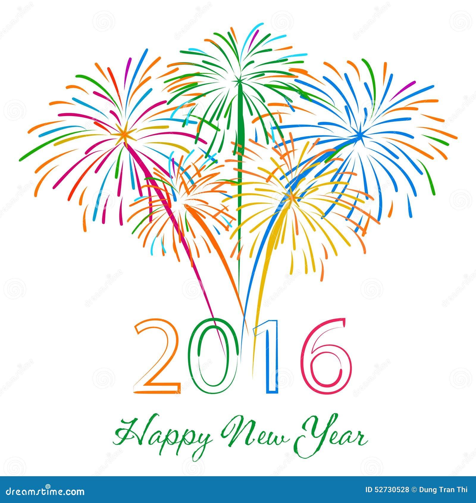 New Year S Line Art : Bonne année avec le fond de vacances feux d