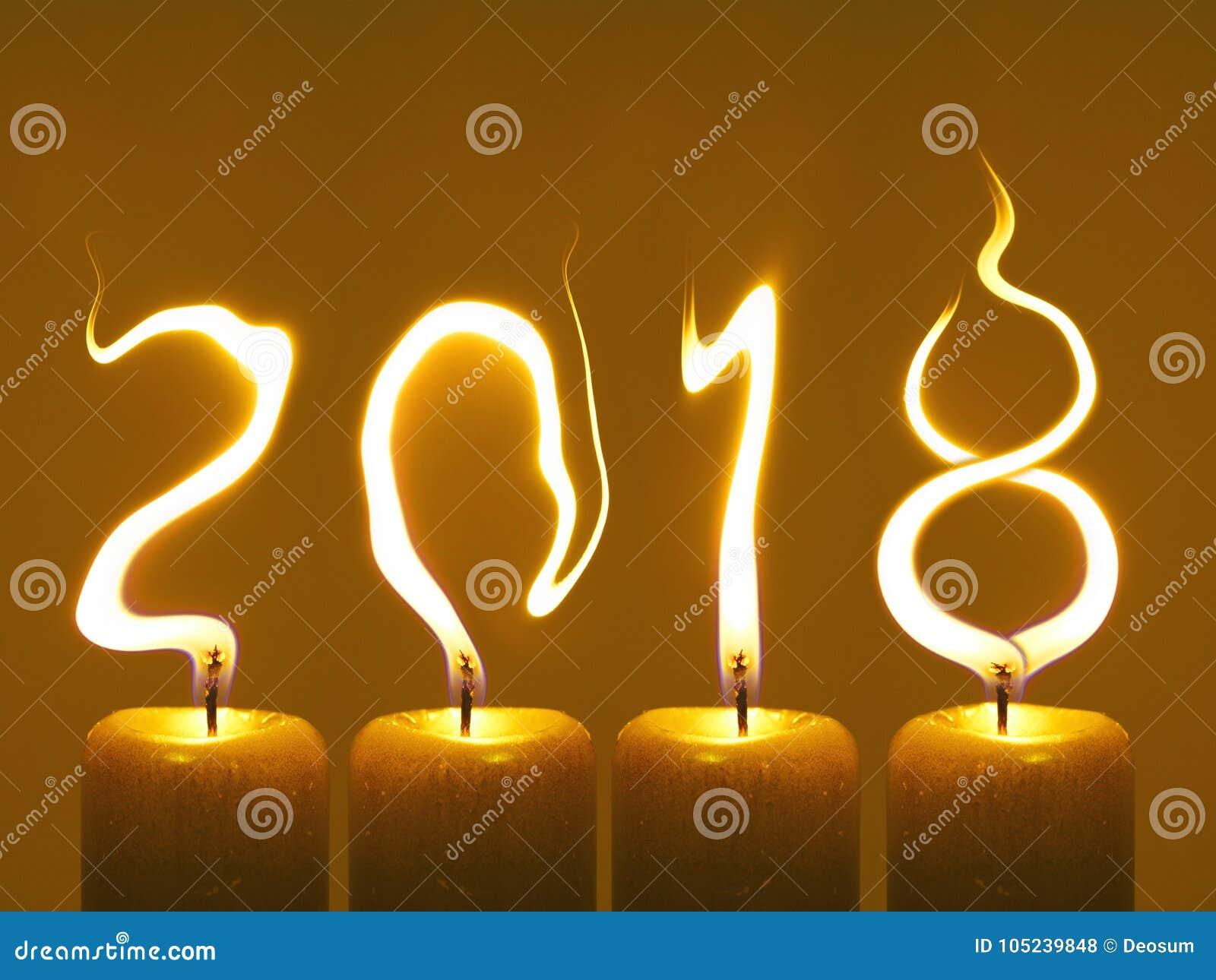 Bonne année 2018 - bougies