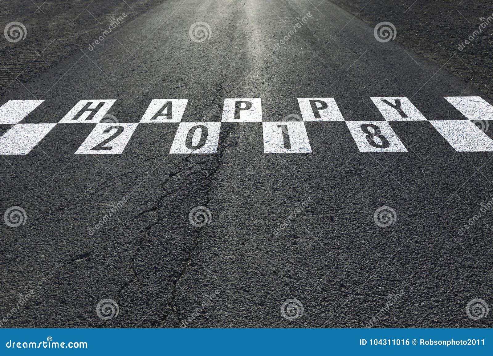 Bonne année conceptuelle sur la route