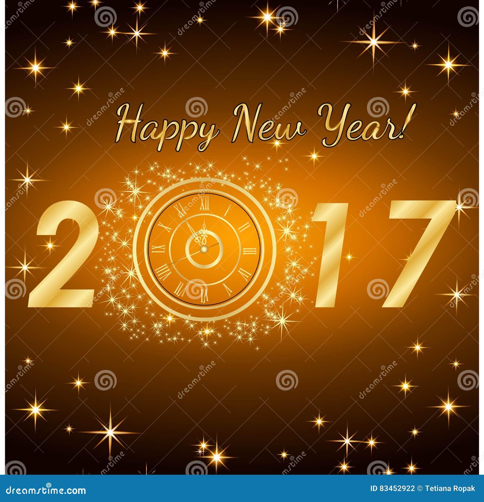 Bonne année 2017 Fond de vecteur