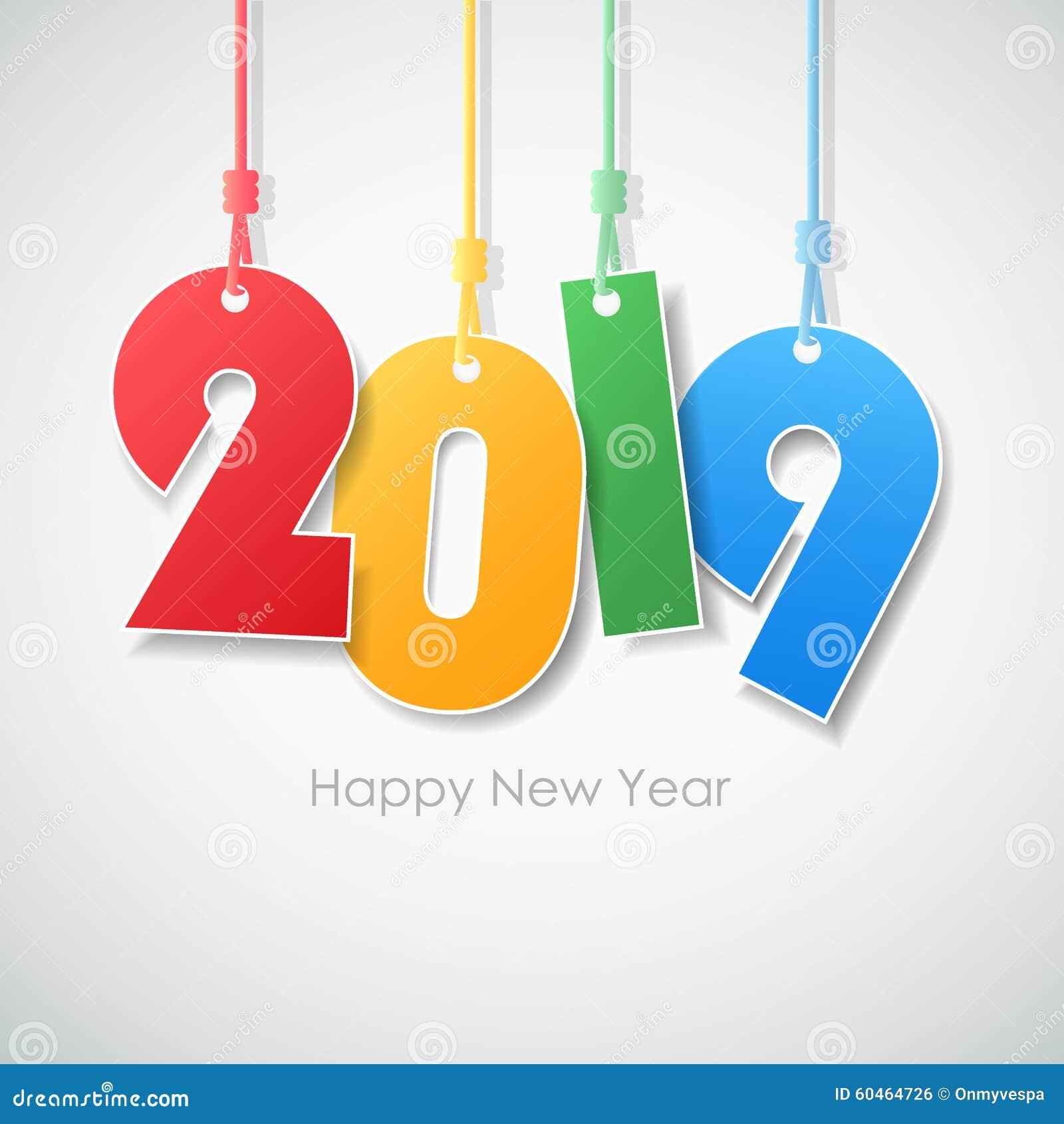 Bonne année simple 2019 de carte de voeux