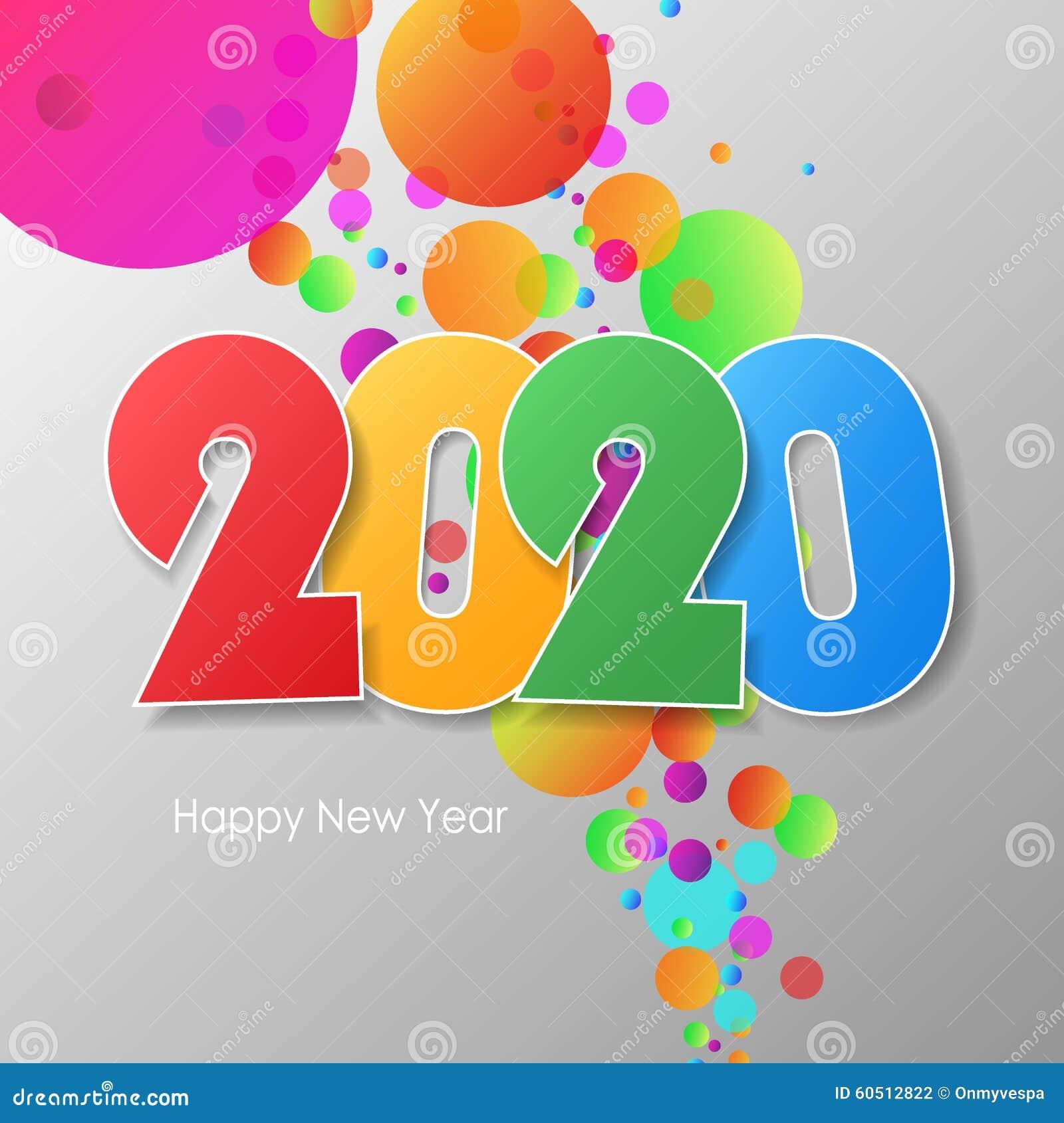 carte de voeux 2020 Bonne Année Simple 2020 De Carte De Voeux Illustration Stock