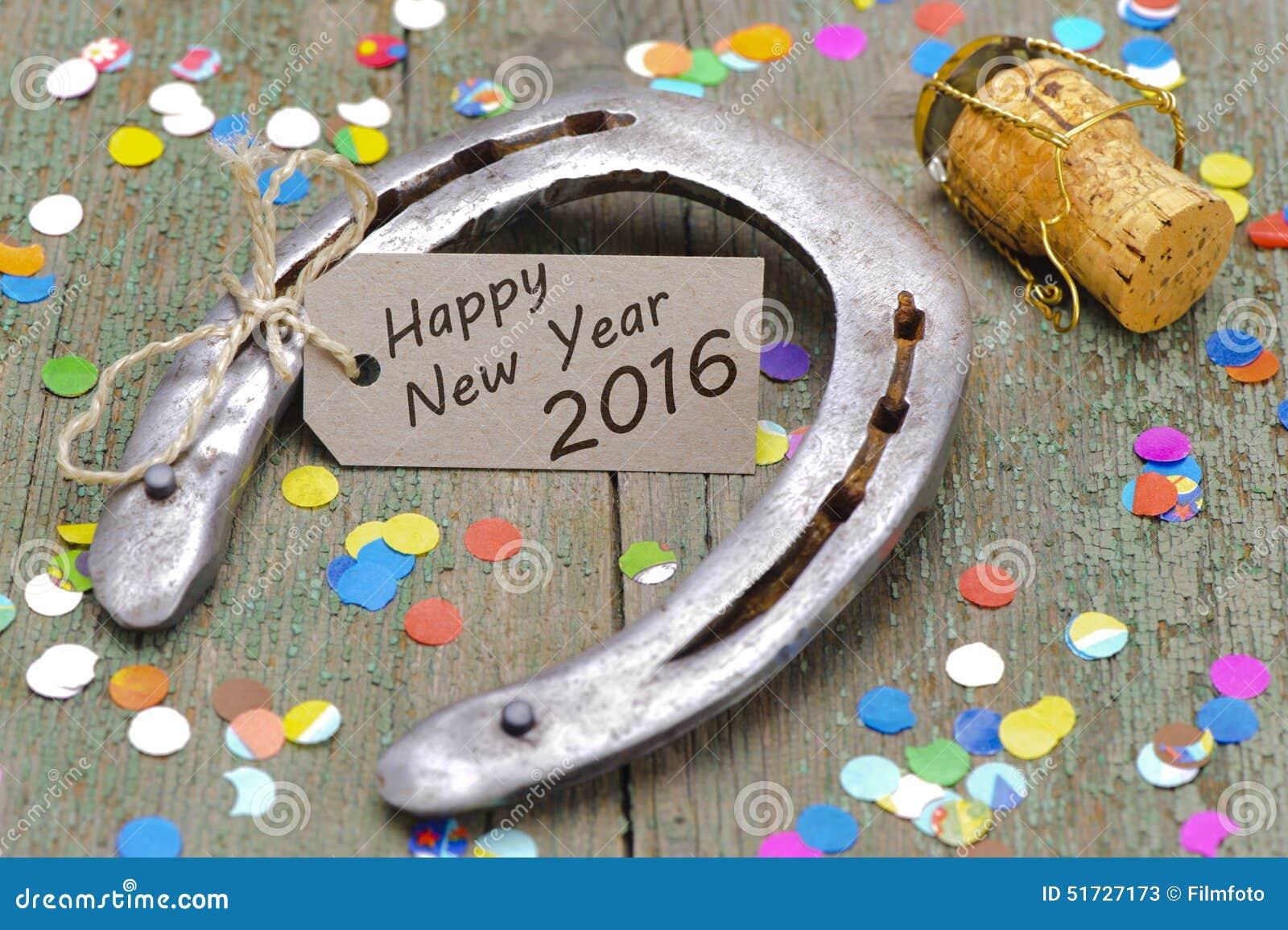 Bonne Année 2016 Avec La Chaussure De Cheval Photo stock ...
