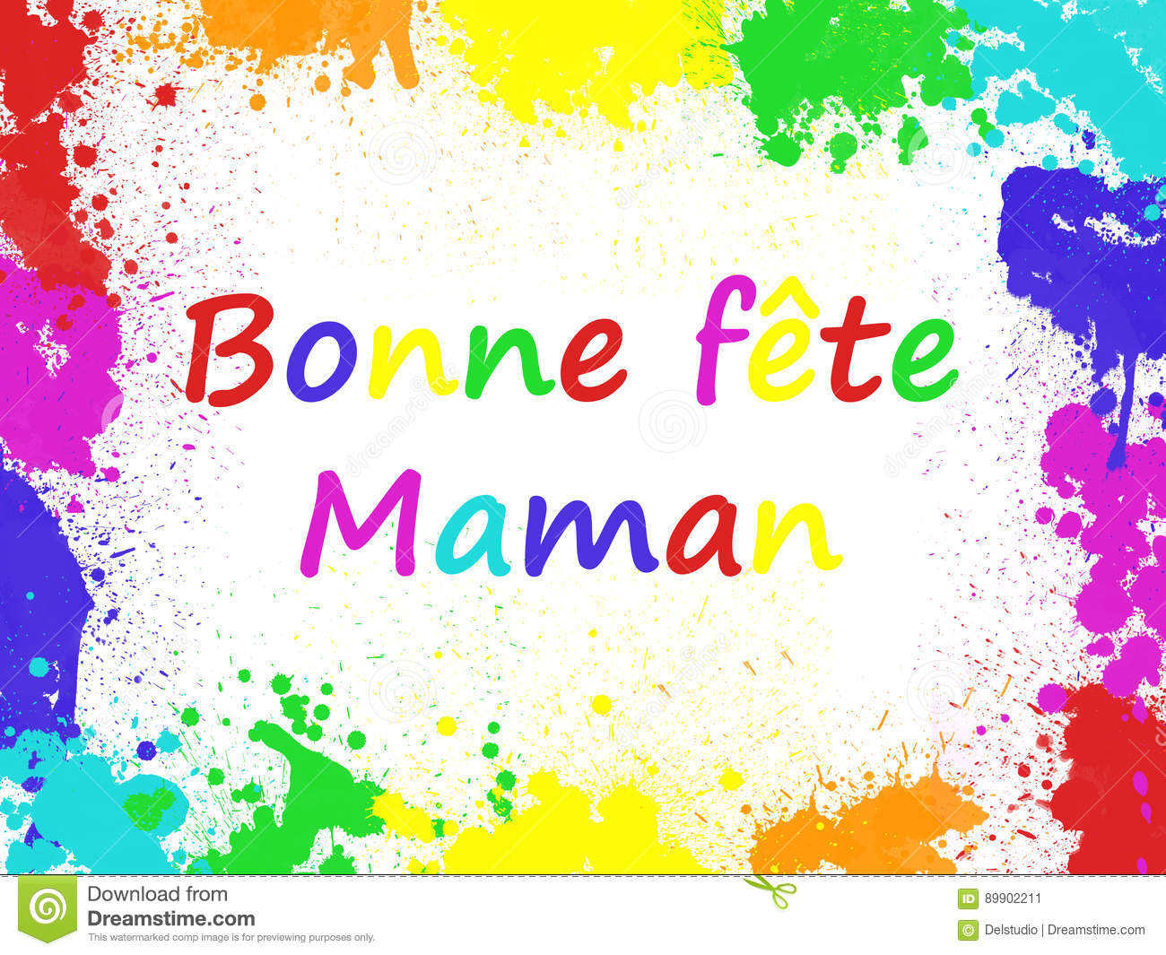 Bonne Fete Maman Meaning Happy Mothers Day In French Stock