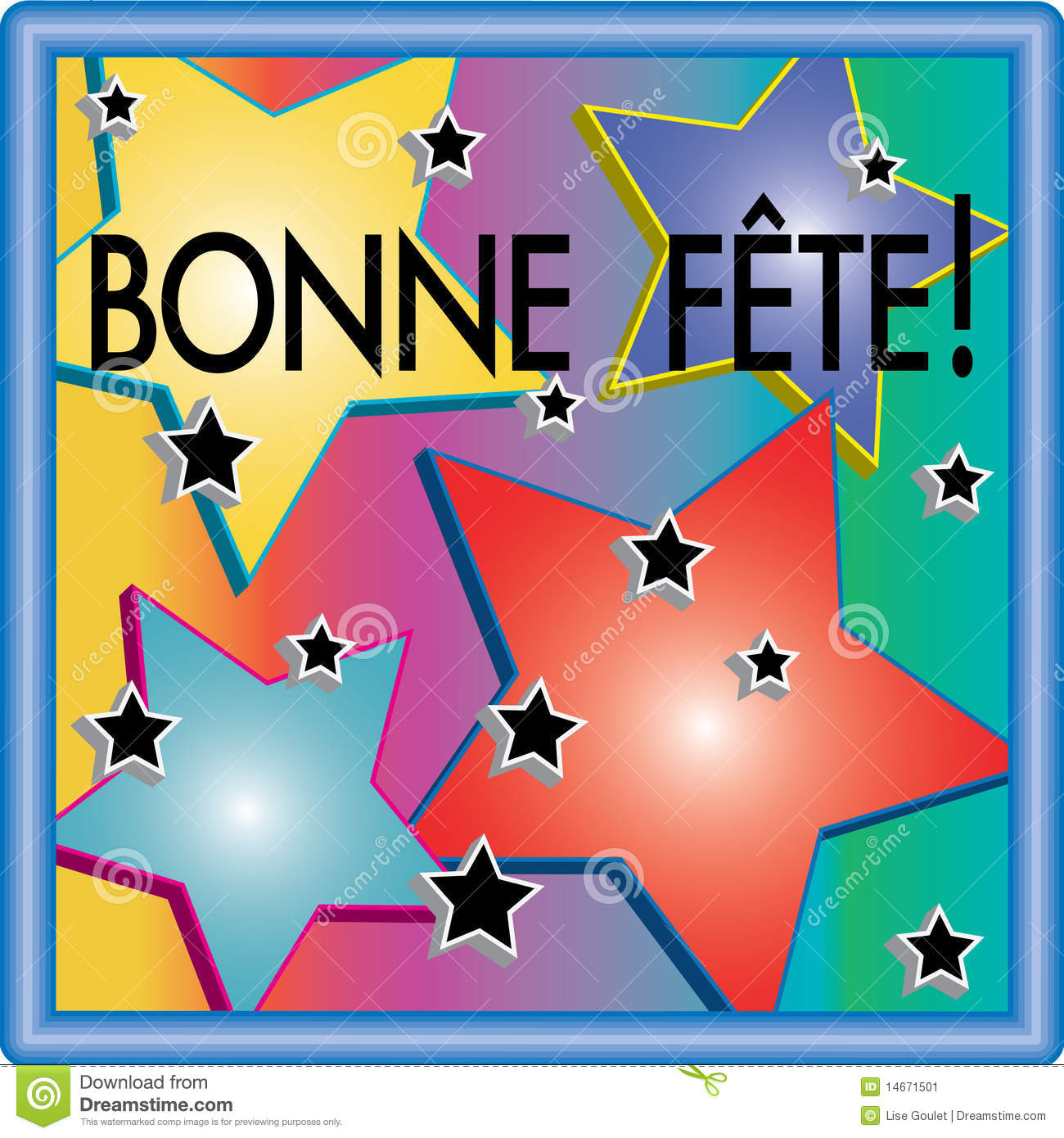 Bonne F 234 Te 3d Stars Illustration Stock Image Image 14671501