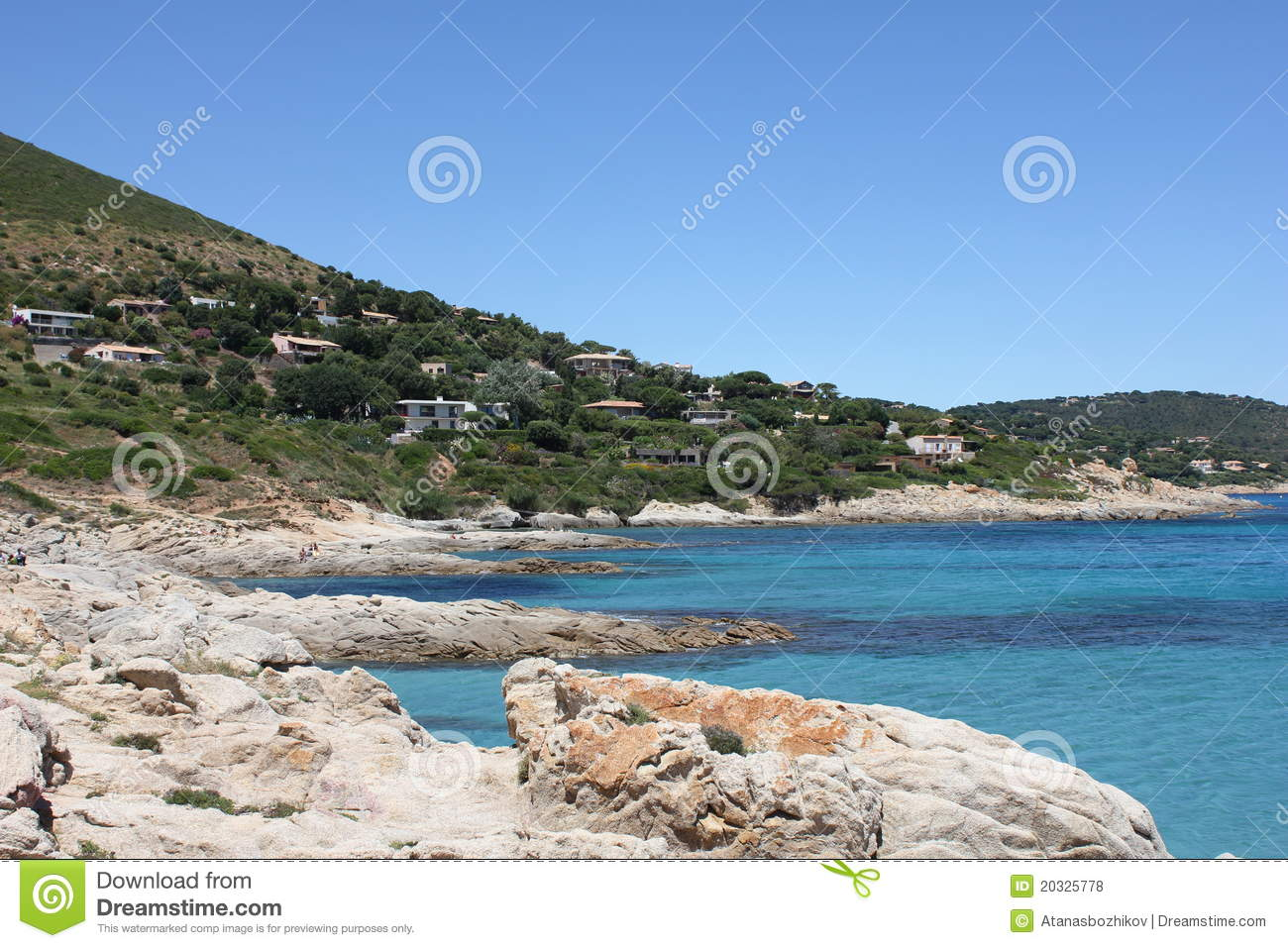 Download Bonne Terrase Beach On The French Riviera Stock Photo - Image of calm, parc: 20325778