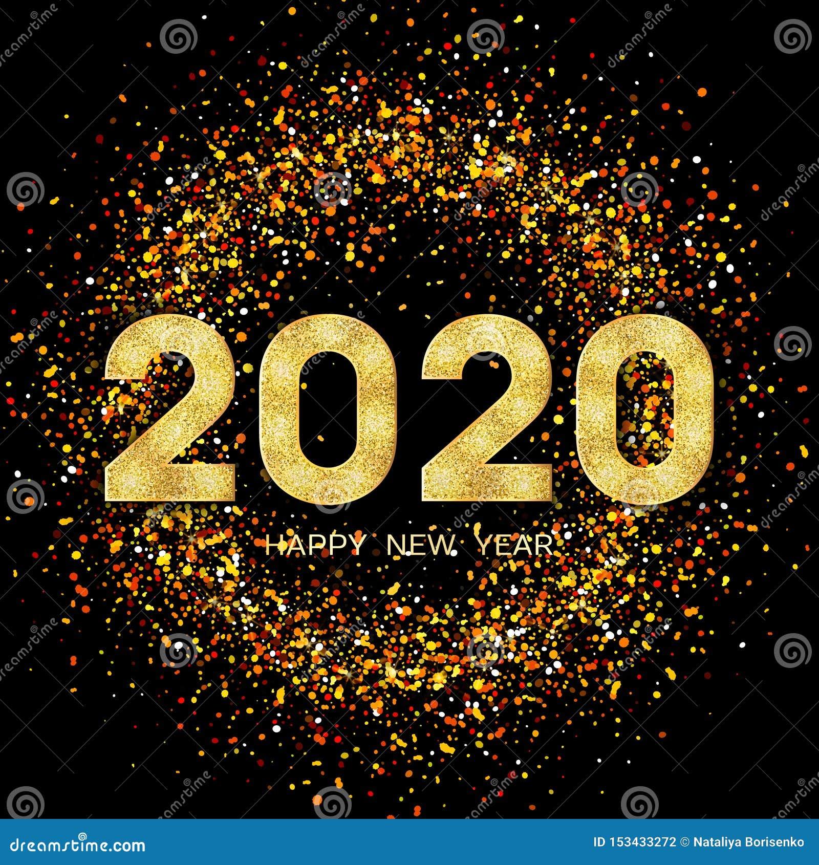 carte de voeux nouvel an 2020 2020 Bonnes Ann?es Carte De Voeux 2020 De Nouvelle Ann?e Fond Avec