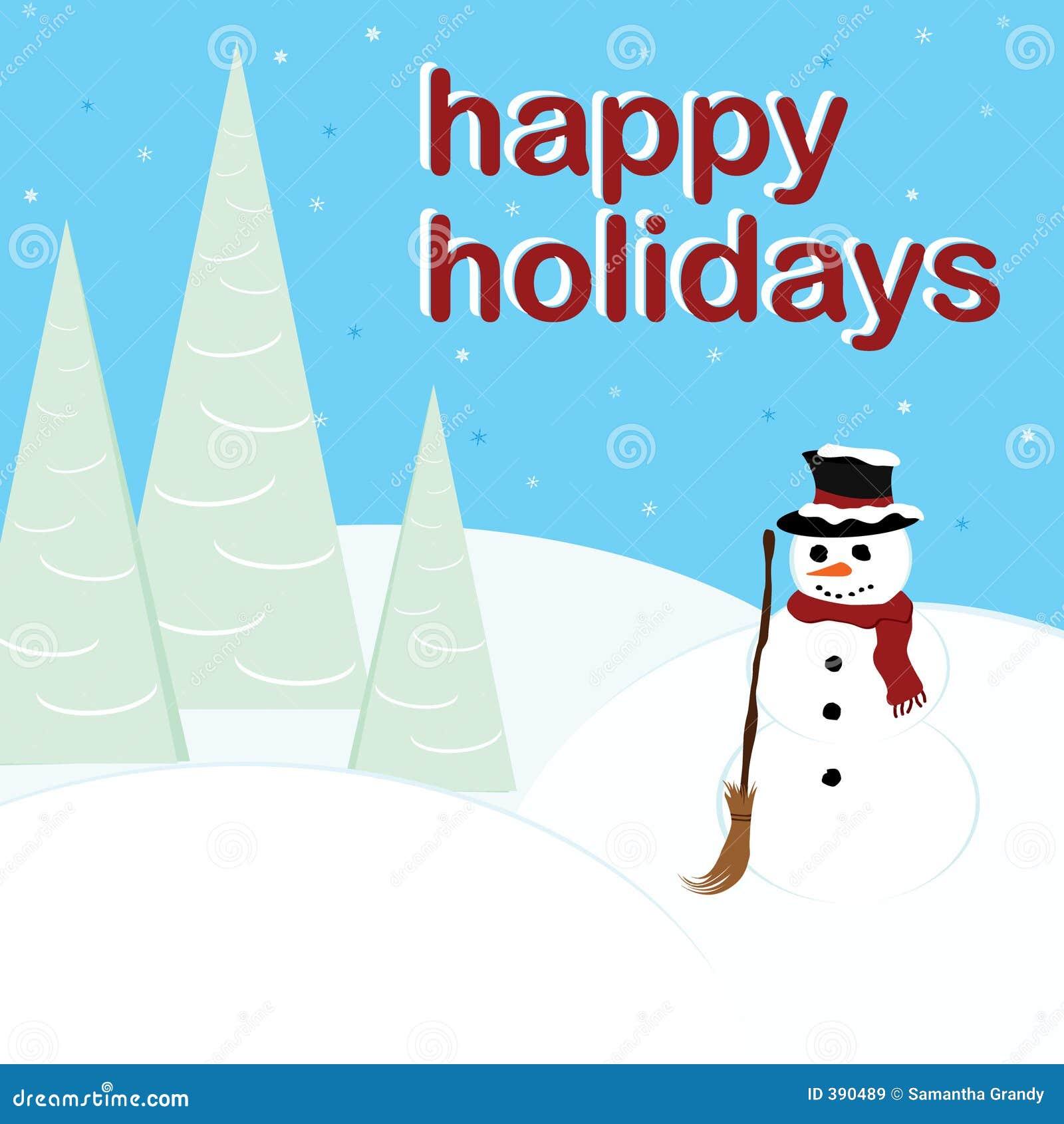 Bonnes fêtes - bonhomme de neige