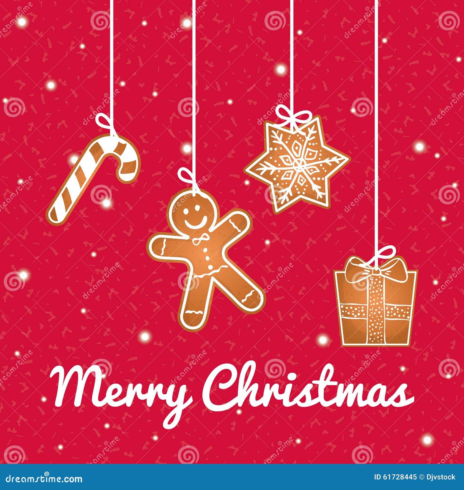 Bonnes Fêtes Et Design De Carte De Joyeux Noël Illustration Stock