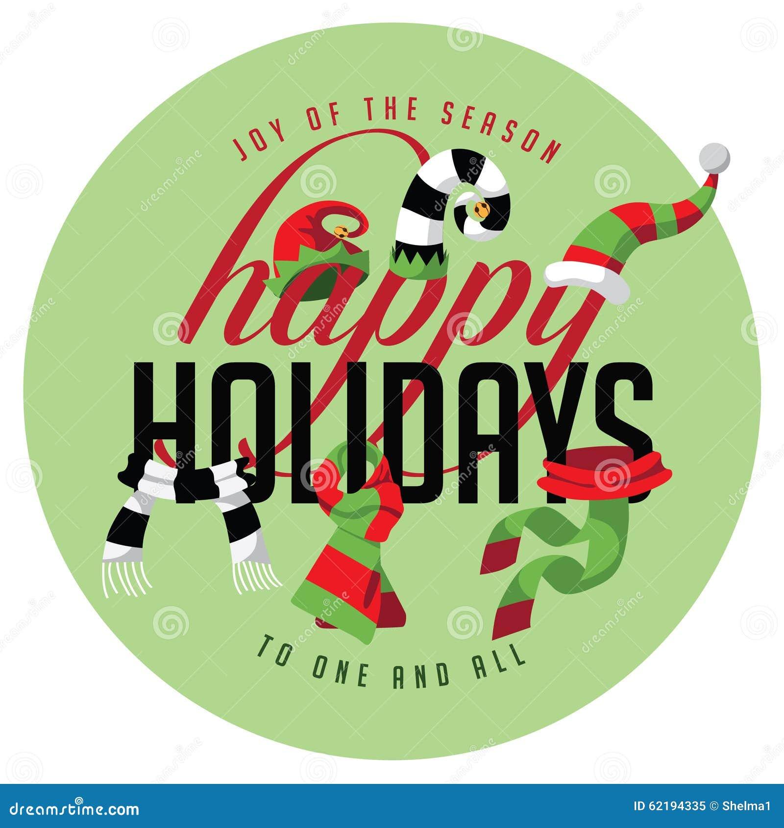 Bonnes fêtes joie de la saison à une et de toutes
