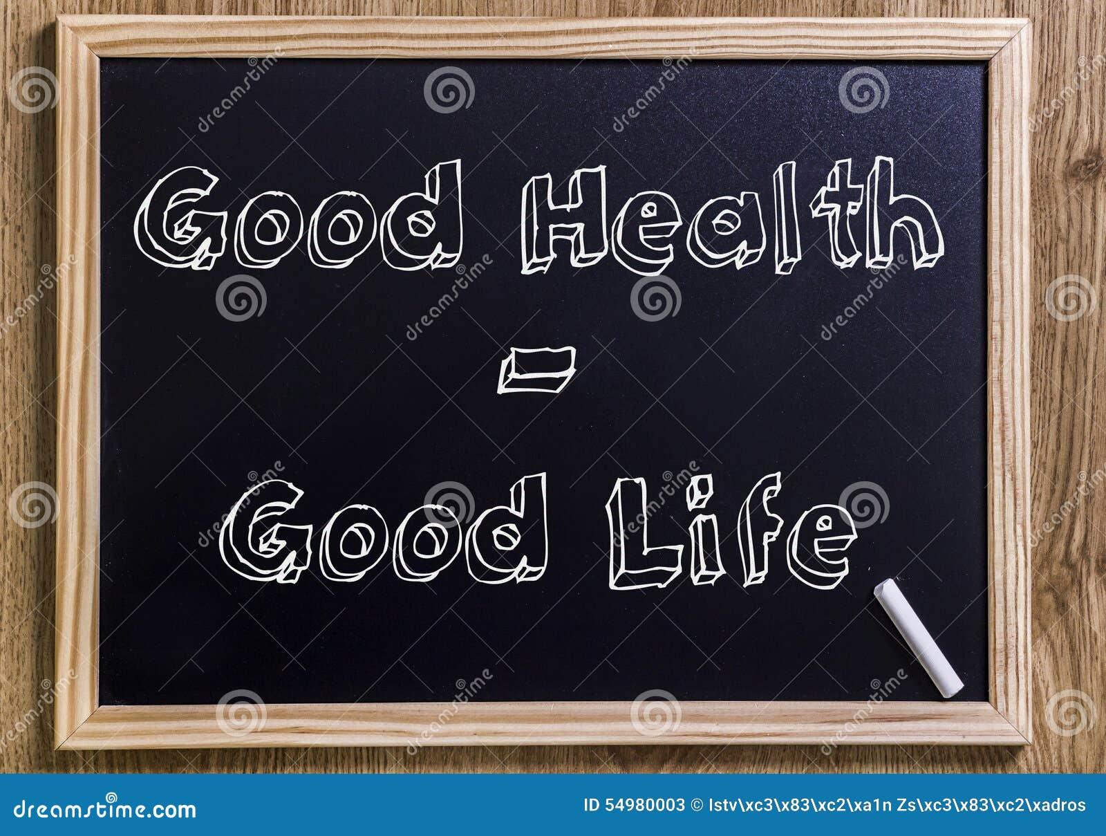 Bonnes santés - bonne vie