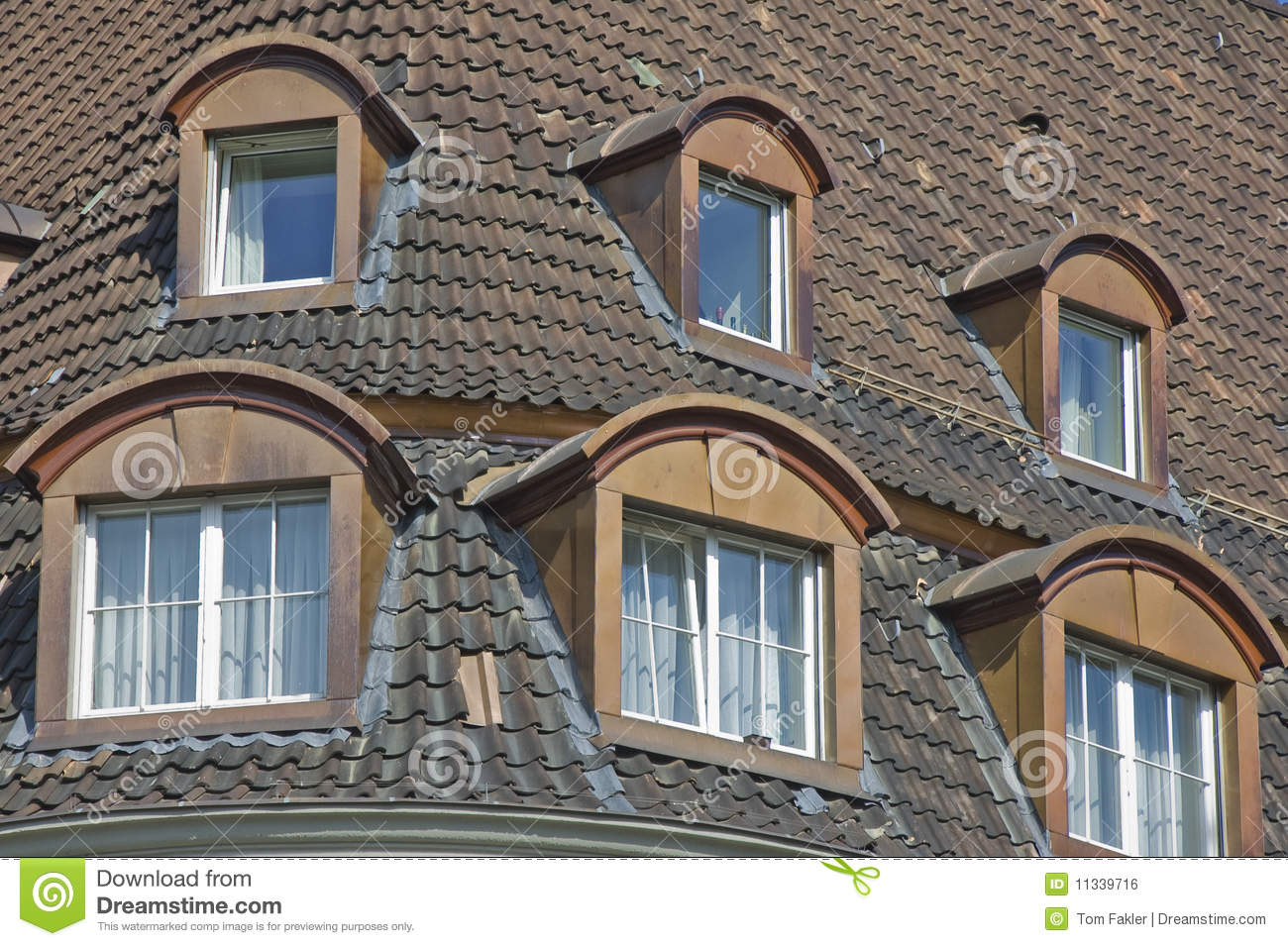 Bonneted Dormer Windows And Tiled Roof Stock Photo Image