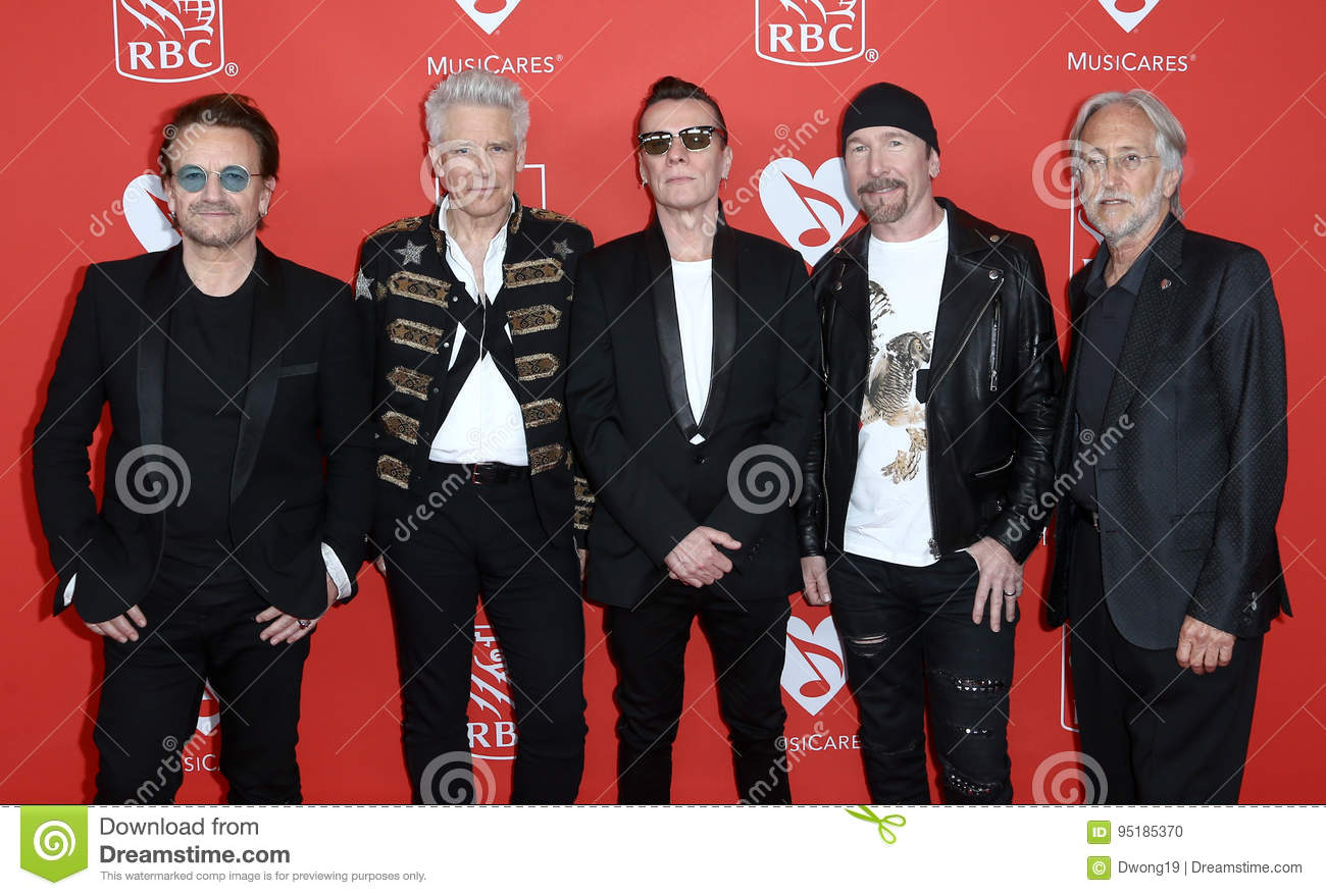 Bono, Adam Clayton, Larry Mullen Jr, The Edge, Neil Portnow