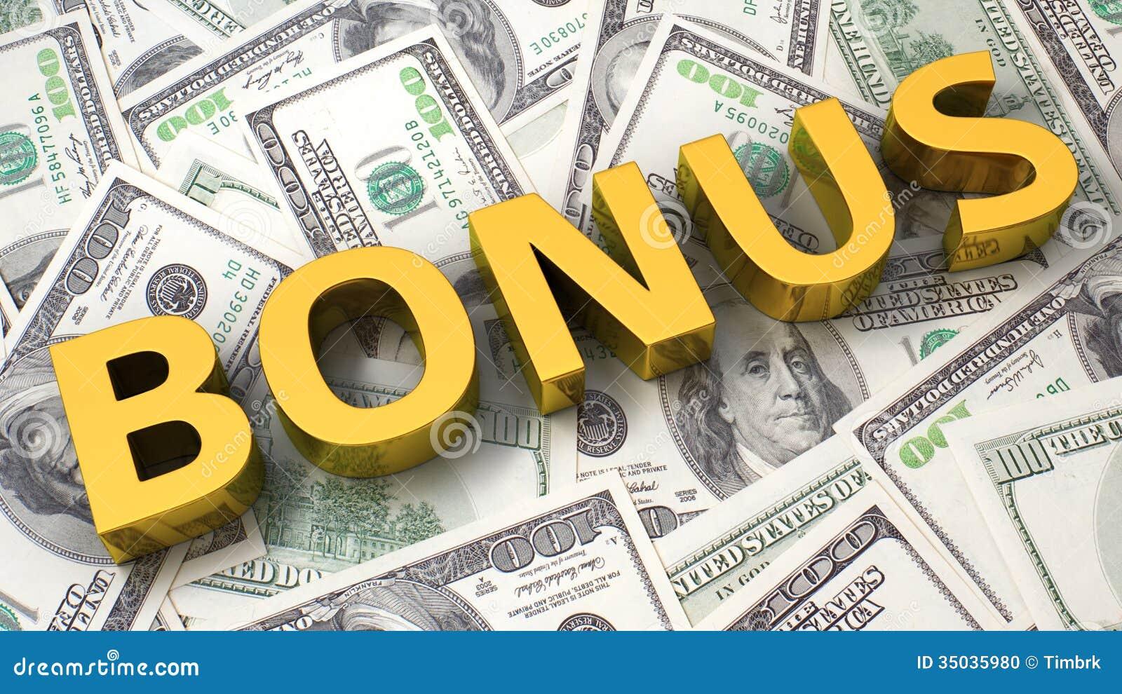 Bonus On The Dollar Background Stock Photo - Image: 35035980