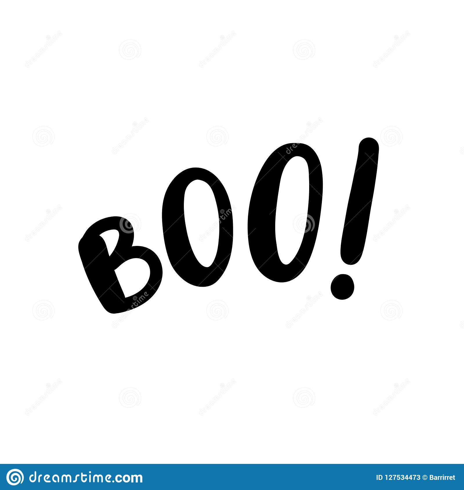 photo relating to Happy Halloween Cards Printable named Boo Words and phrases. Just Just one Solitary Phrase. Vector Case in point