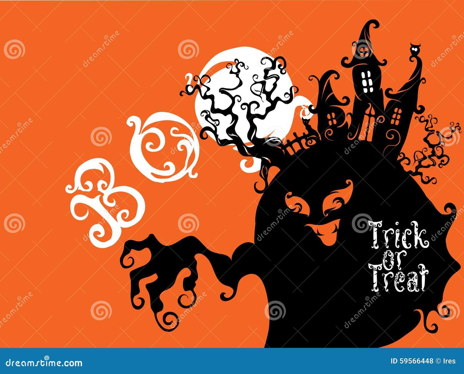 Boo Trick Or Treat kortdesign