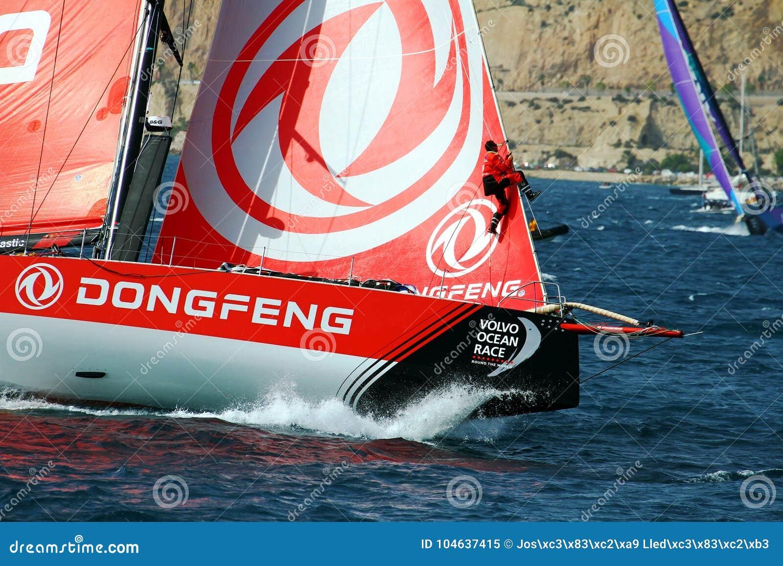 Download Boogmening Van Team Dongfeng Die Na Beginbeen 1 Alicante-Lissabon Varen Redactionele Afbeelding - Afbeelding bestaande uit reis, boog: 104637415