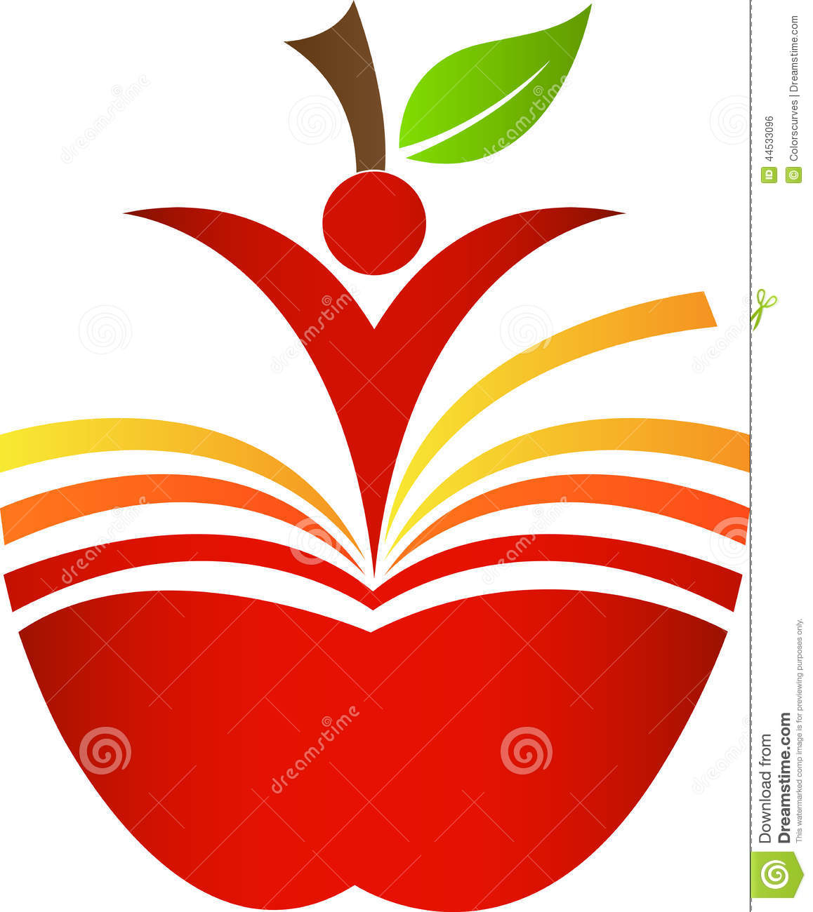 Book apple stock vector image 44533096 for Apple design book