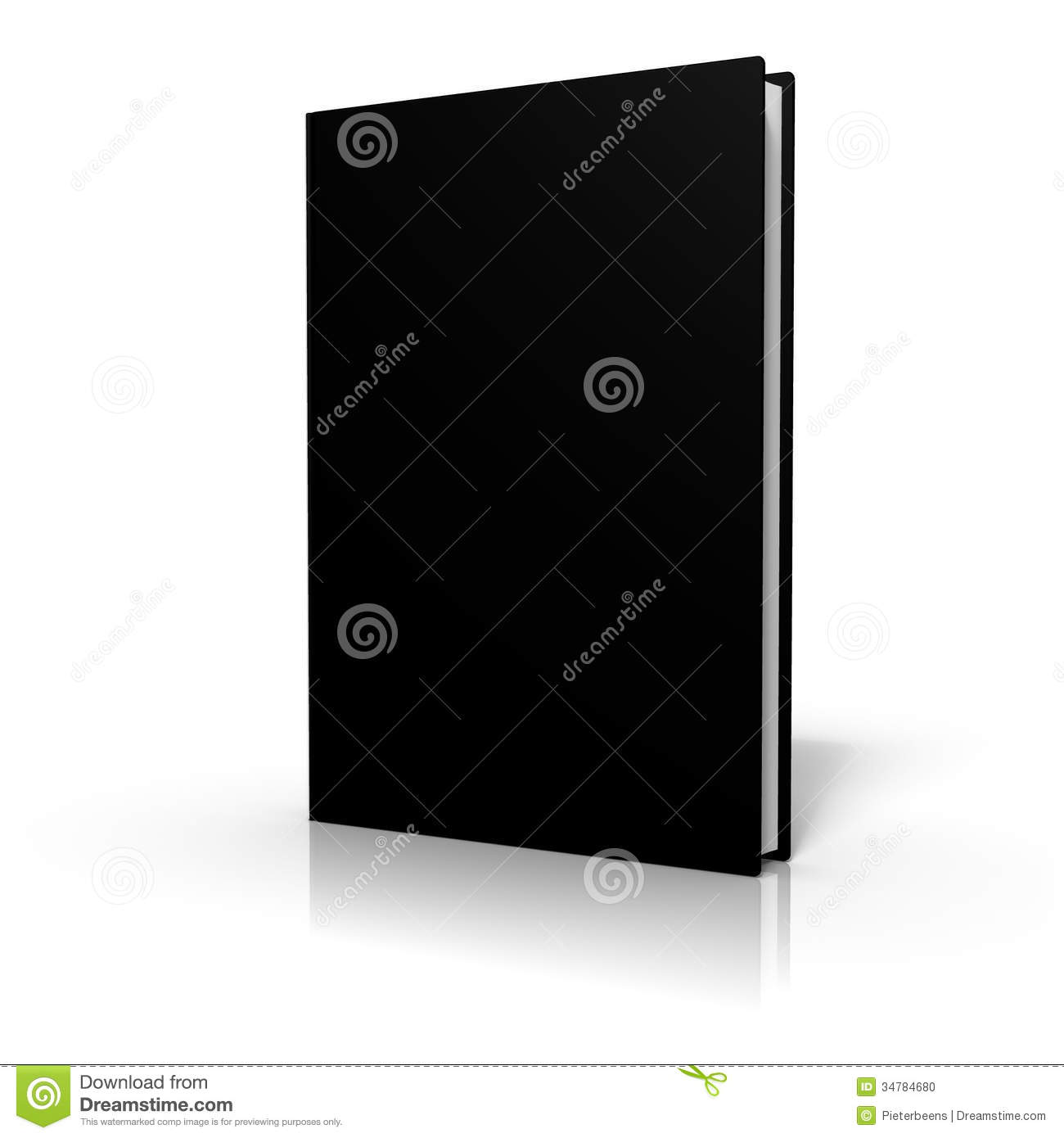 Book Cover White Background : Book with black cover on white background stock photo