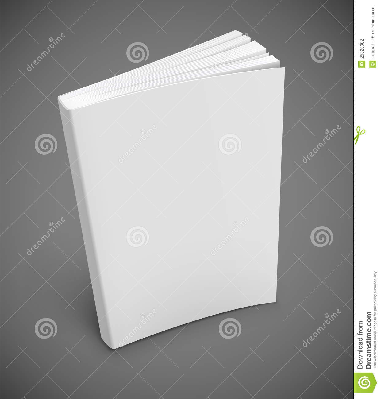 Cookbook White Cover : Book with blank white cover stock photography image