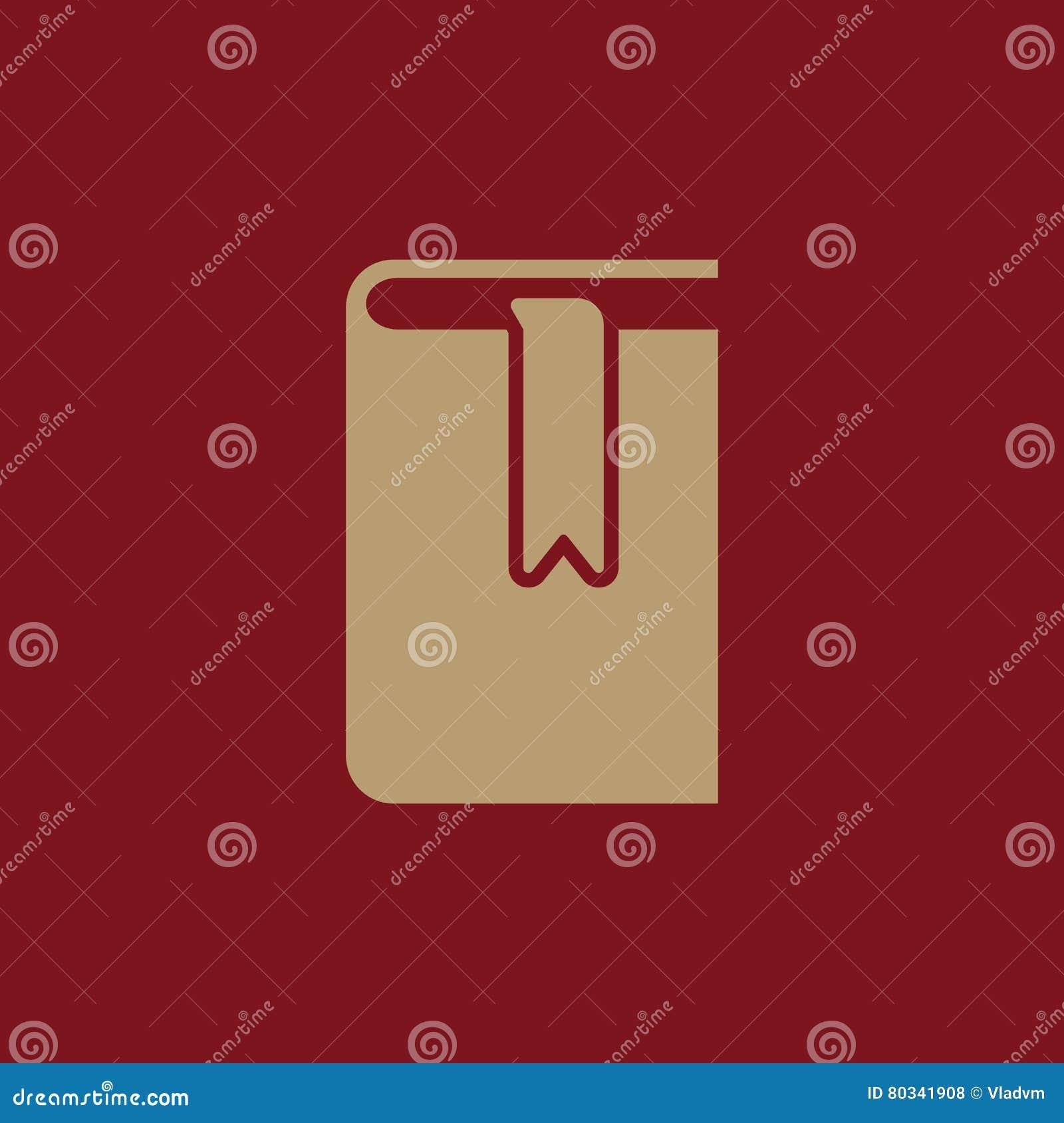 Book And Bookmark Icon Vector Design Library Bookmark Symbol Web