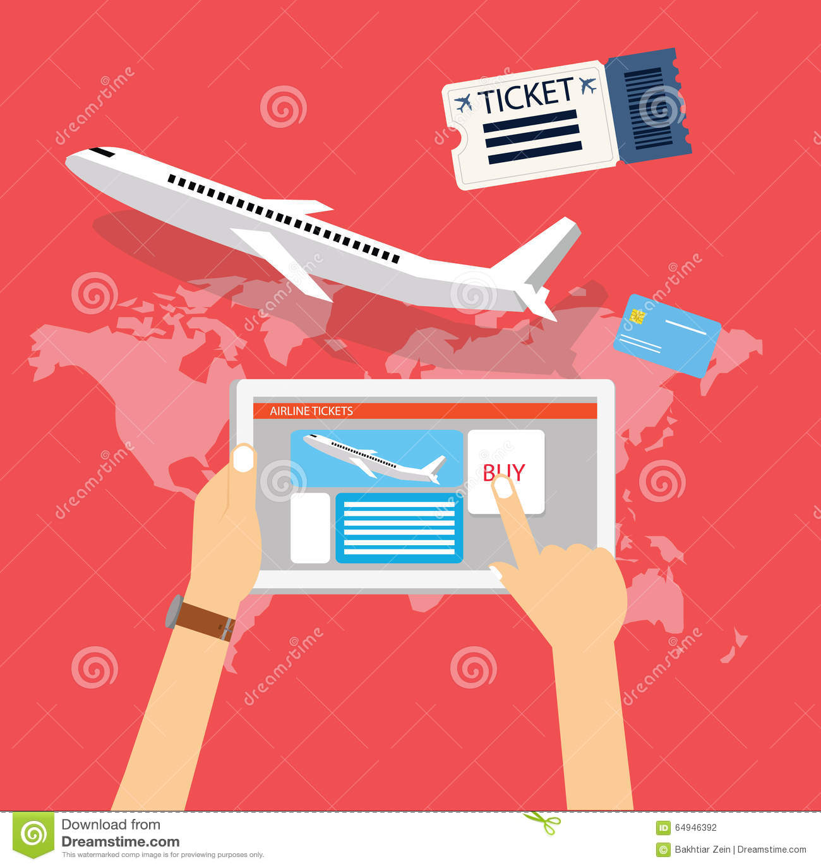 Buy From: Book Buy Plane Flight Ticket Online Via Internet For
