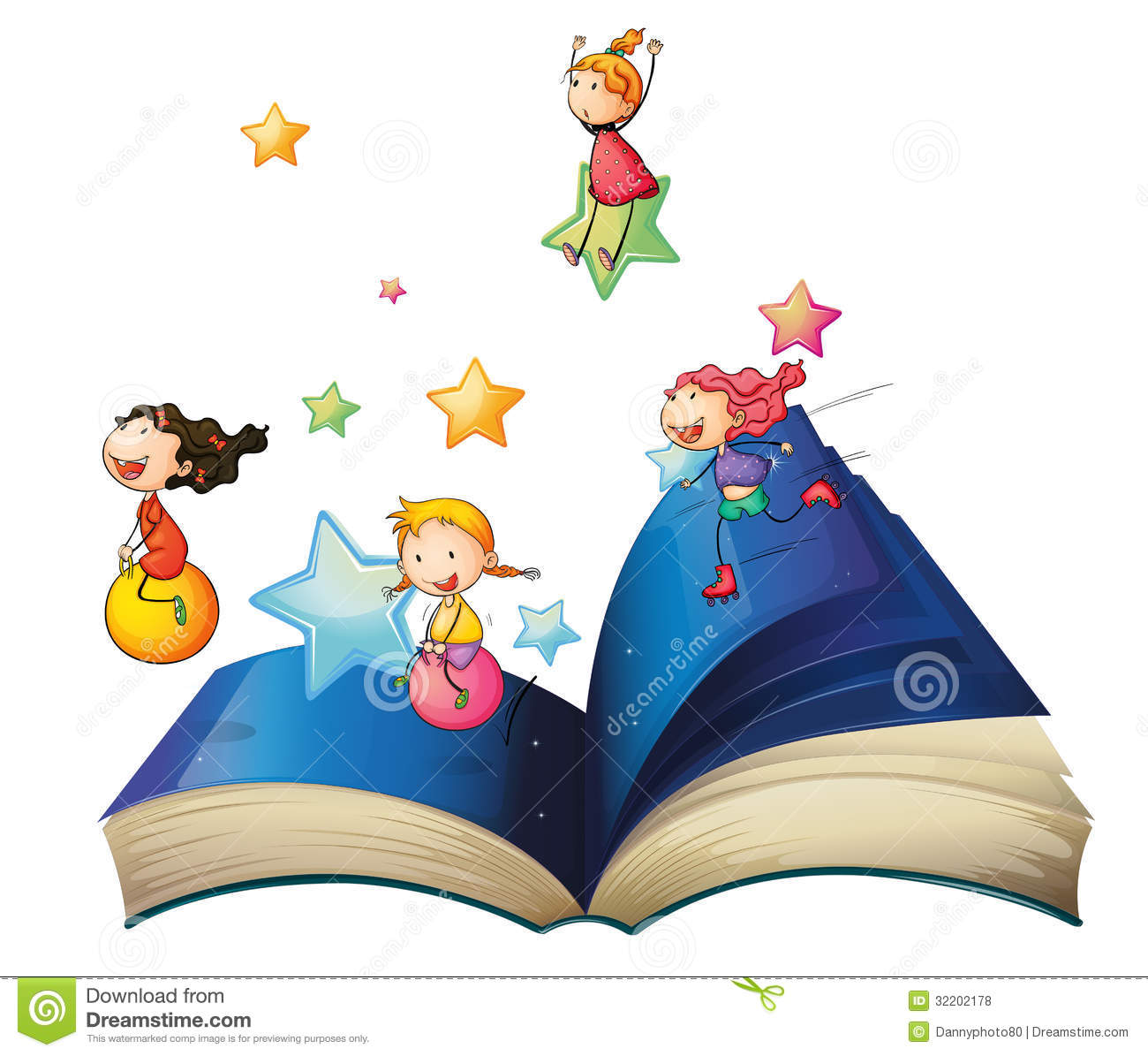 a book with children playing royalty free stock photos image