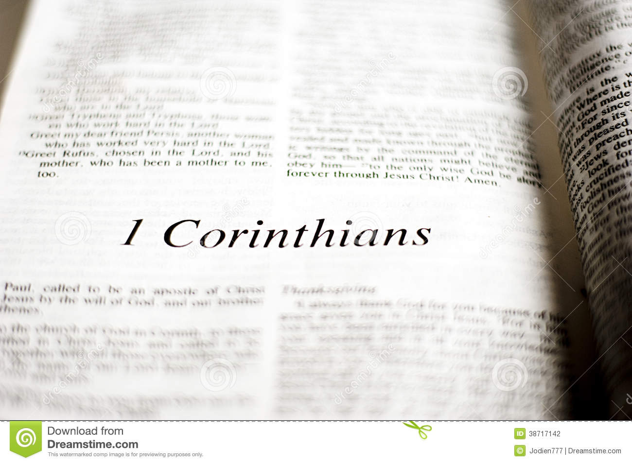 Book of 1 Corinthians stock photo  Image of christianity